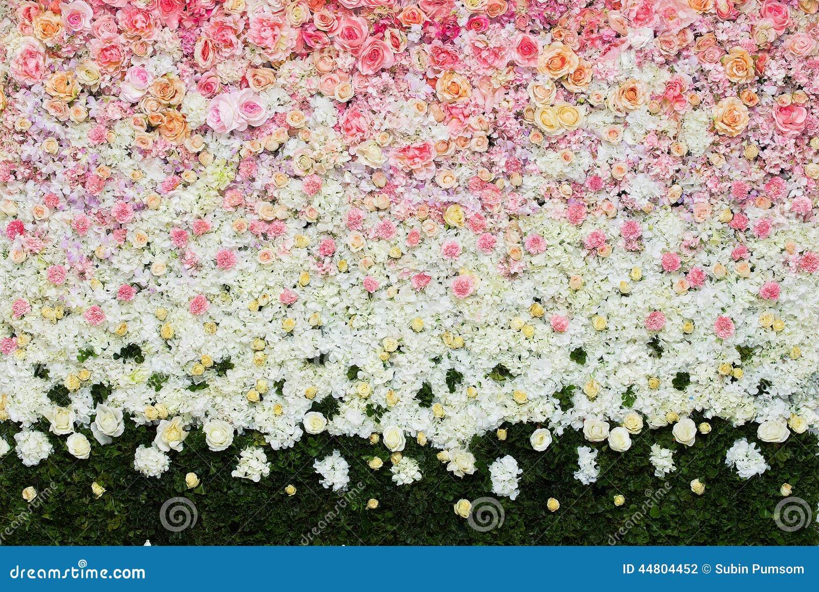 Mooie bloemenachtergrond voor huwelijk