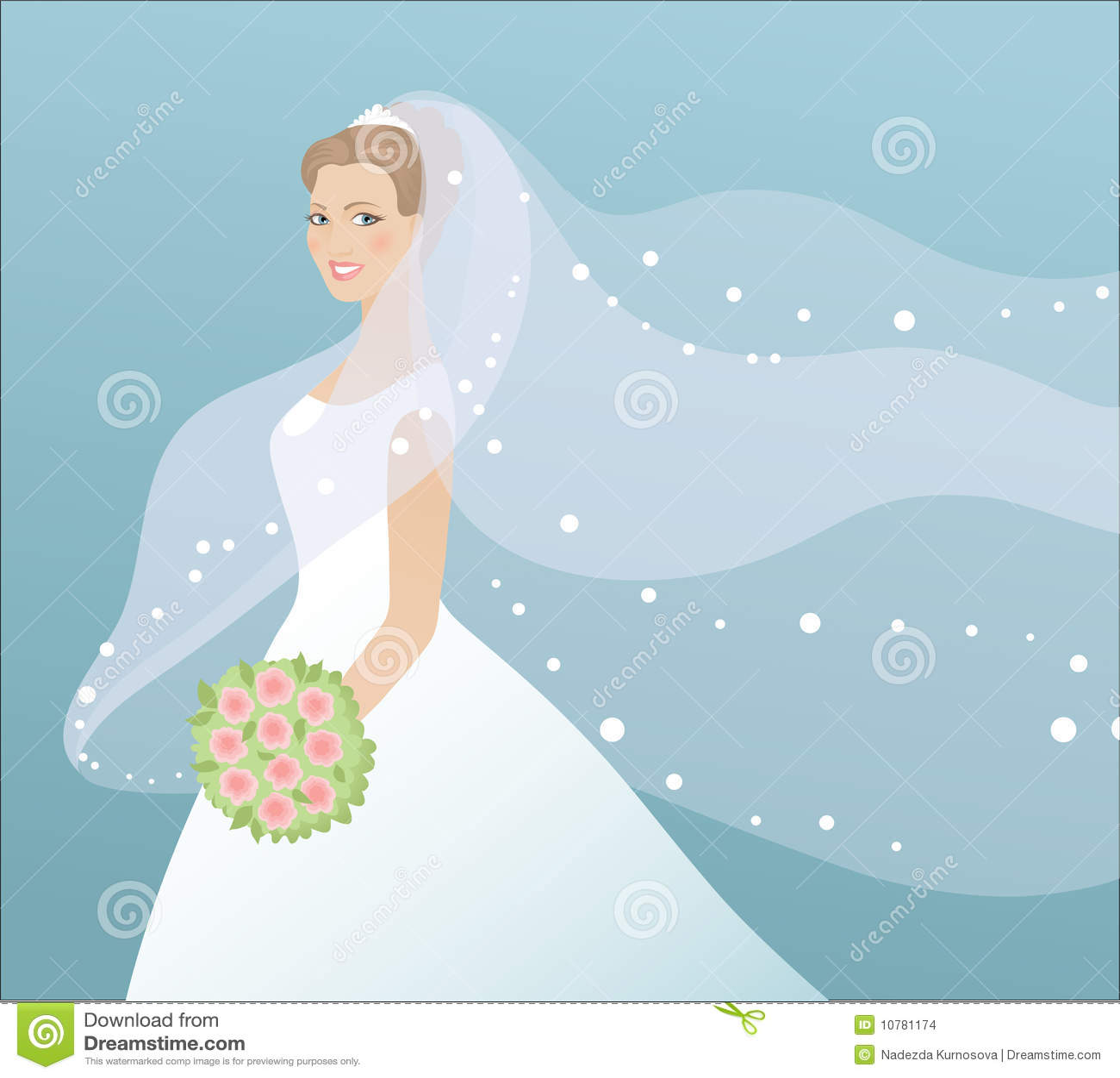 Mooie bruid in kleding