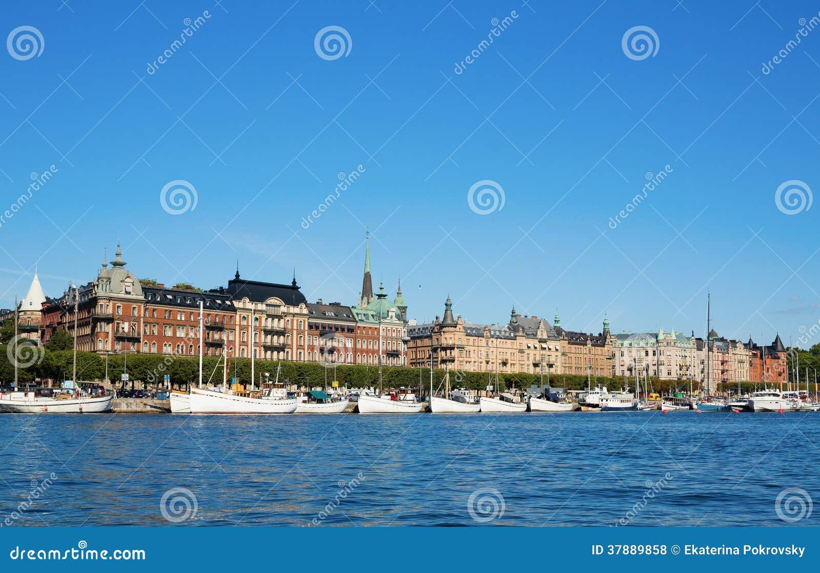 Mooie cityscape van Stockholm