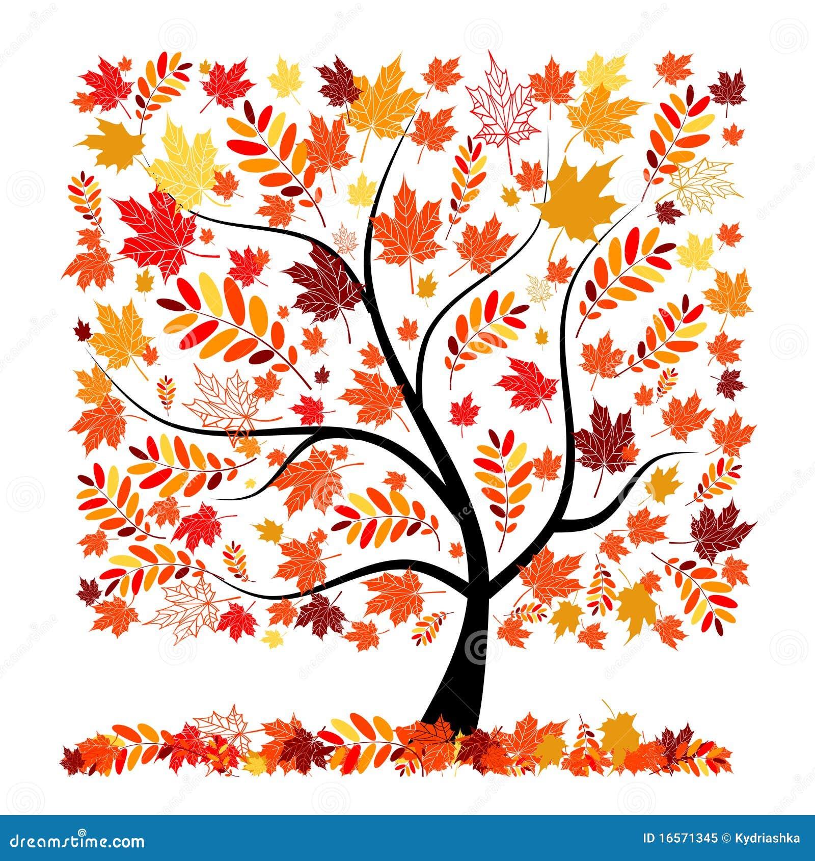 Mooie de herfstboom voor uw ontwerp royalty vrije stock foto afbeelding 16571345 - Boom ontwerp ...
