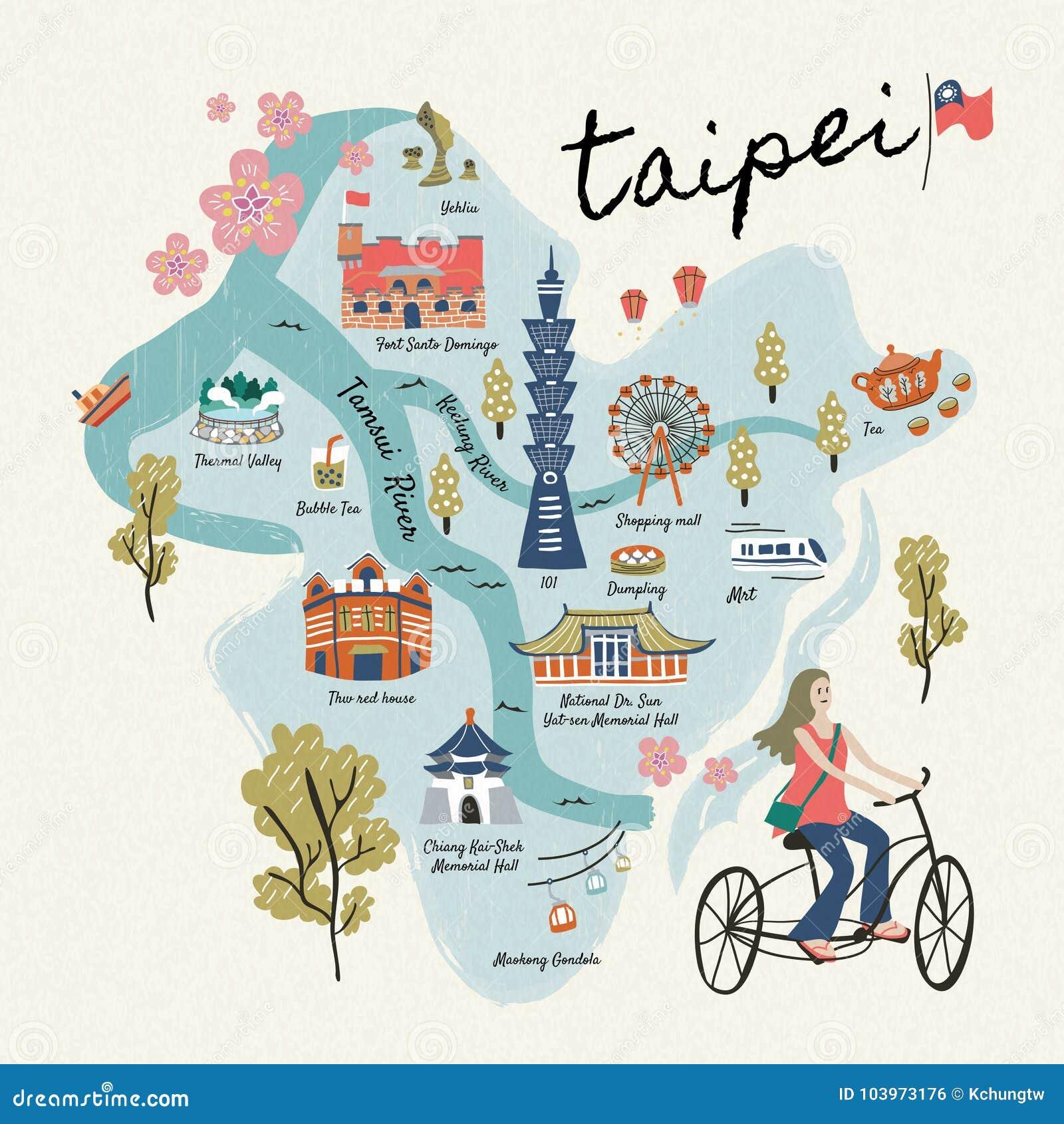 Mooie de reissymbolen van Taiwan