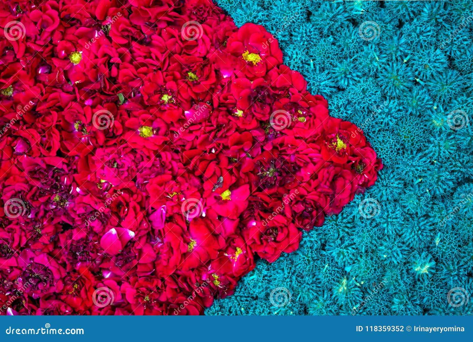 Mooie diagonale heldere bloemendieachtergrond van gele marig wordt gemaakt