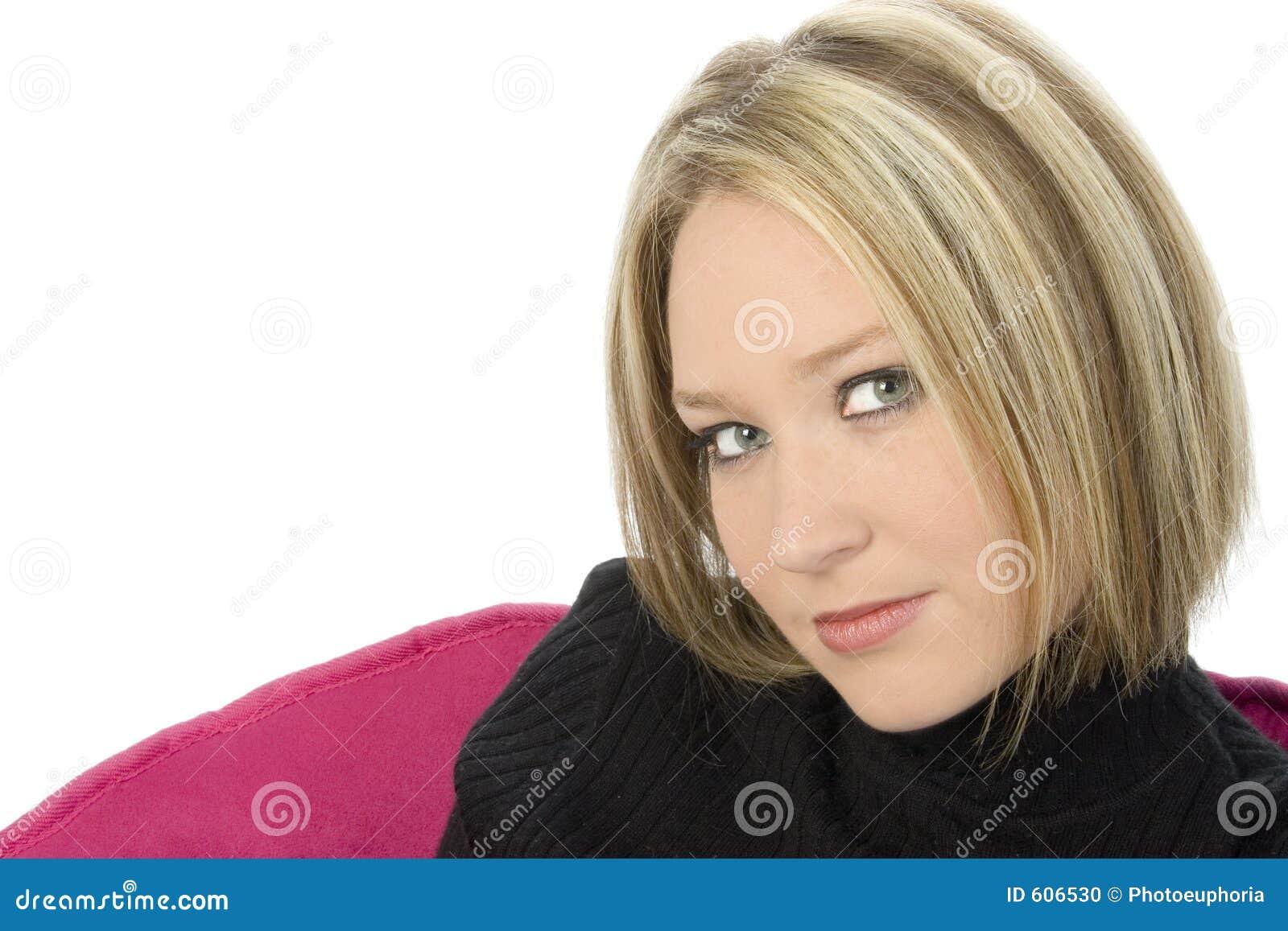 Mooie Dichte Omhooggaand van de Blonde