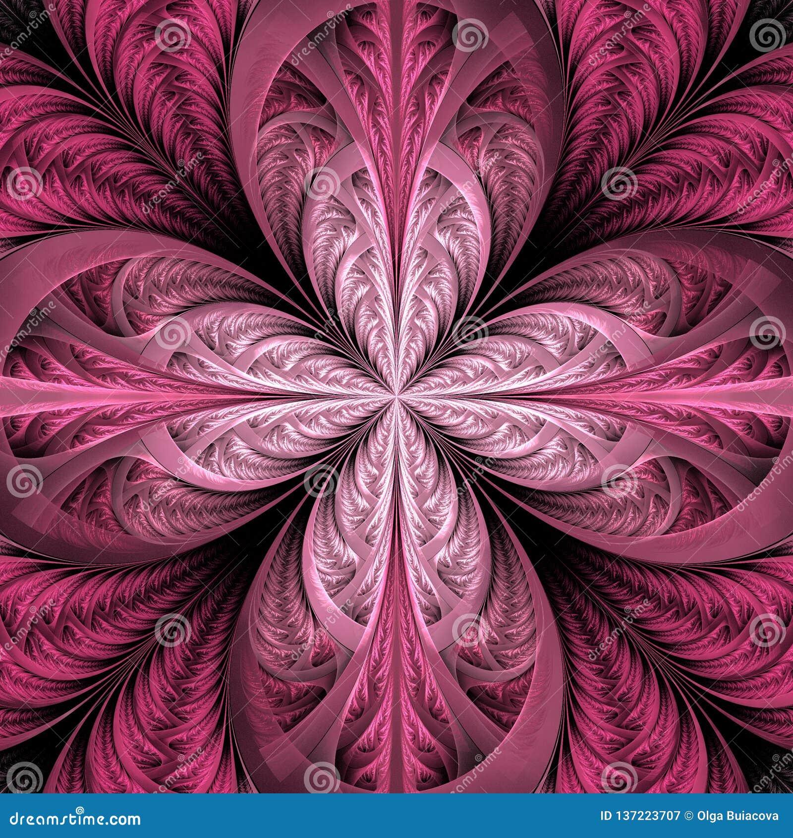 Mooie fractal bloem Inzameling - ijzig patroon U kunt het voor uitnodigingen, notitieboekjedekking, telefoongeval, prentbriefkaar