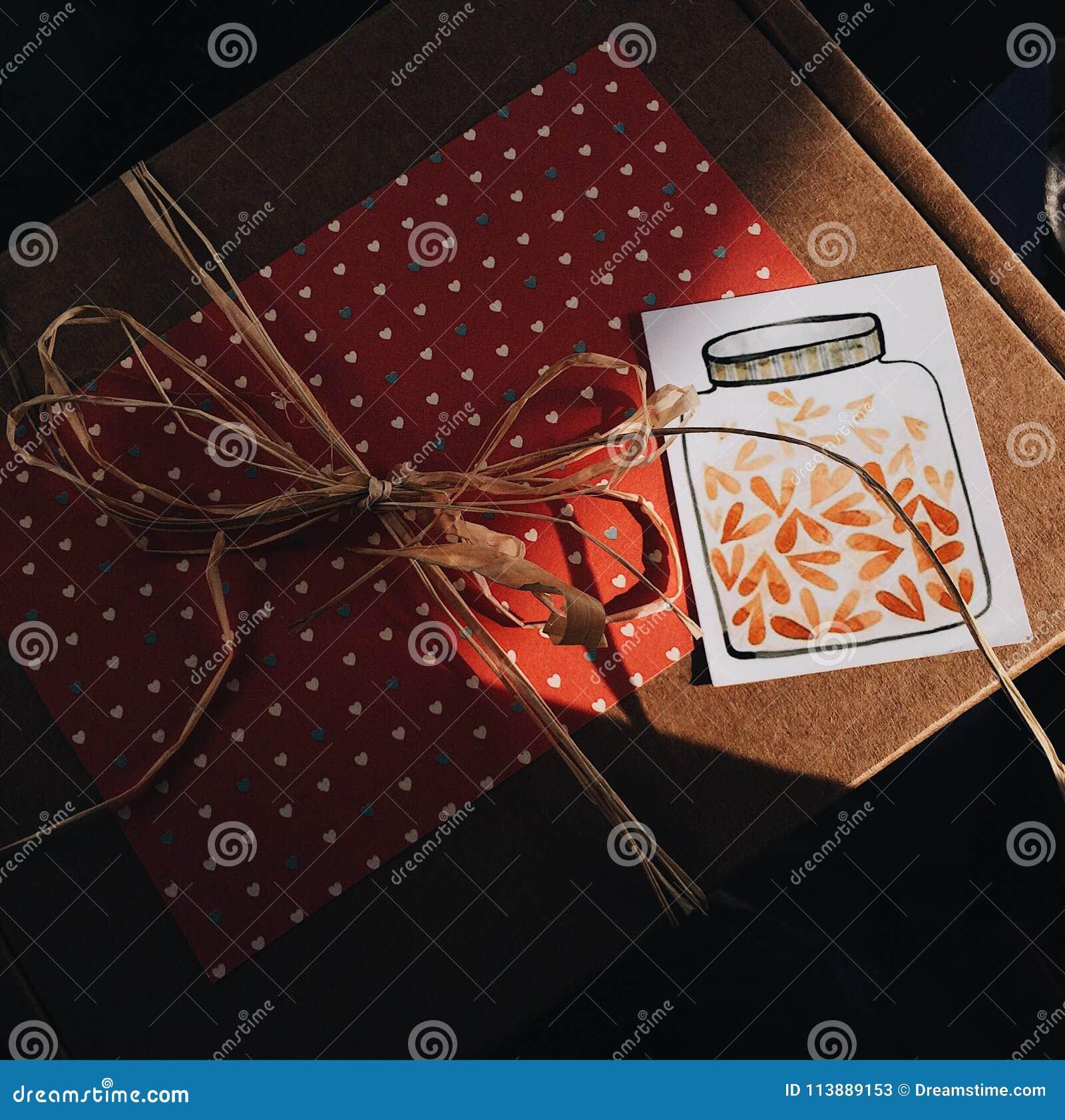 Mooie gift in het het bewerken pakket