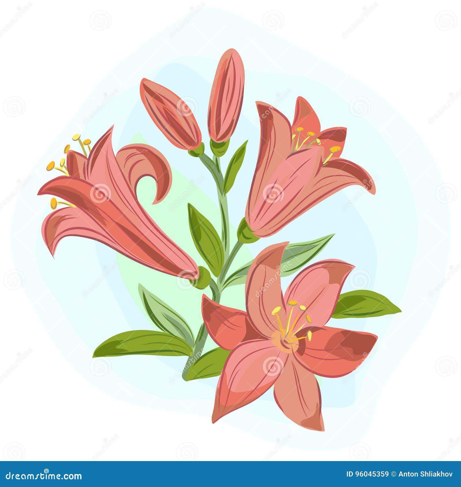 Mooie giftkaart met oranje lelies
