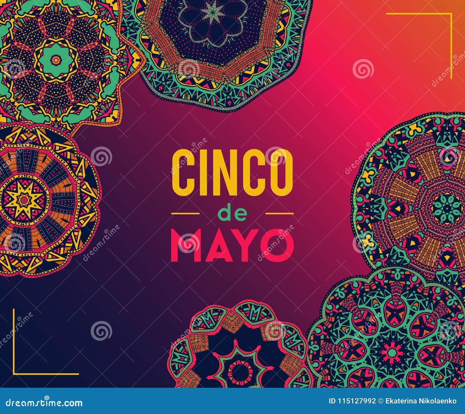Mooie Groetkaart Uitnodiging Voor Cinco De Mayo Festival