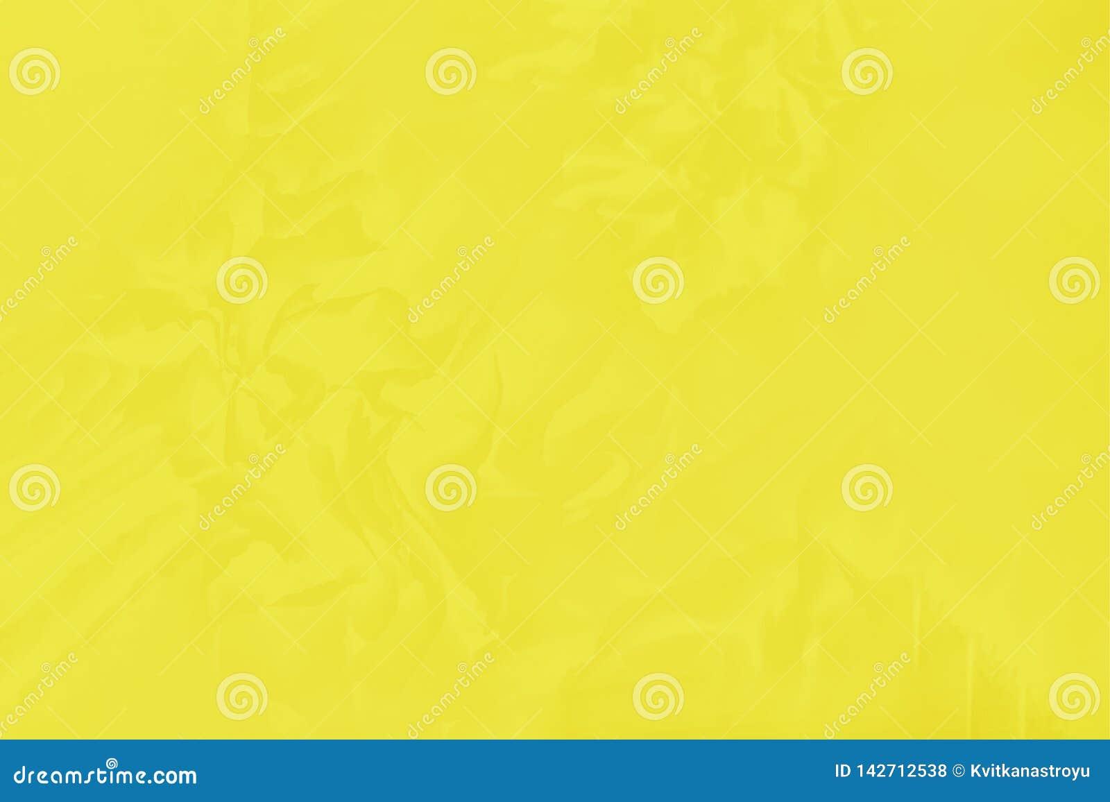 Mooie heldere gele kleur met een gevoelig bloemenpatroon