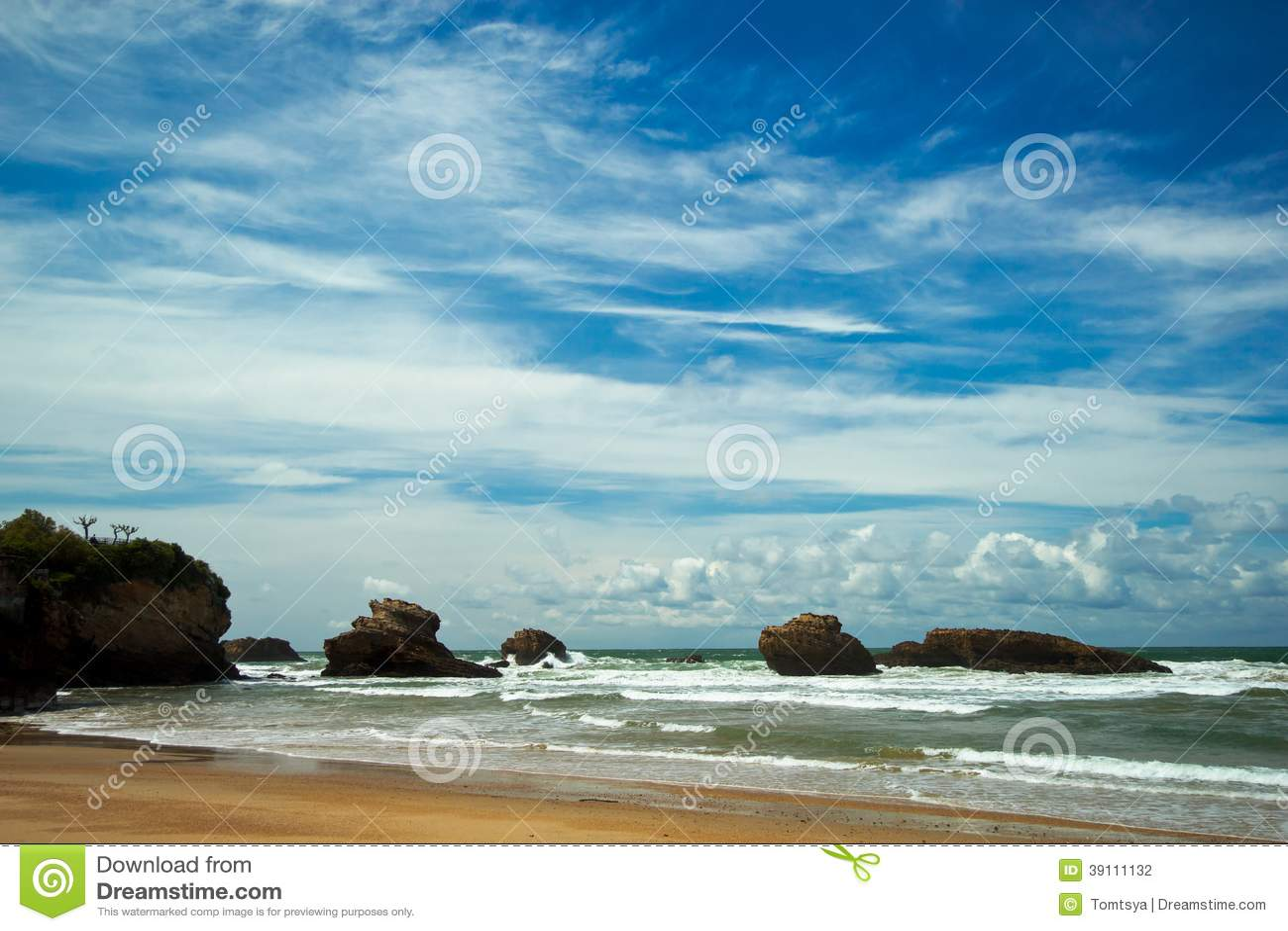 Mooie hemel over Biarritz, Frankrijk