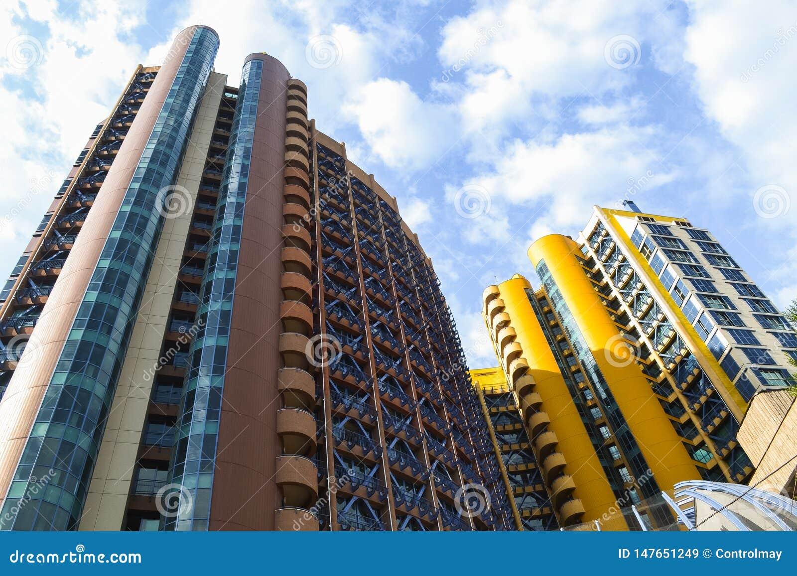 Mooie high-rise gebouwen