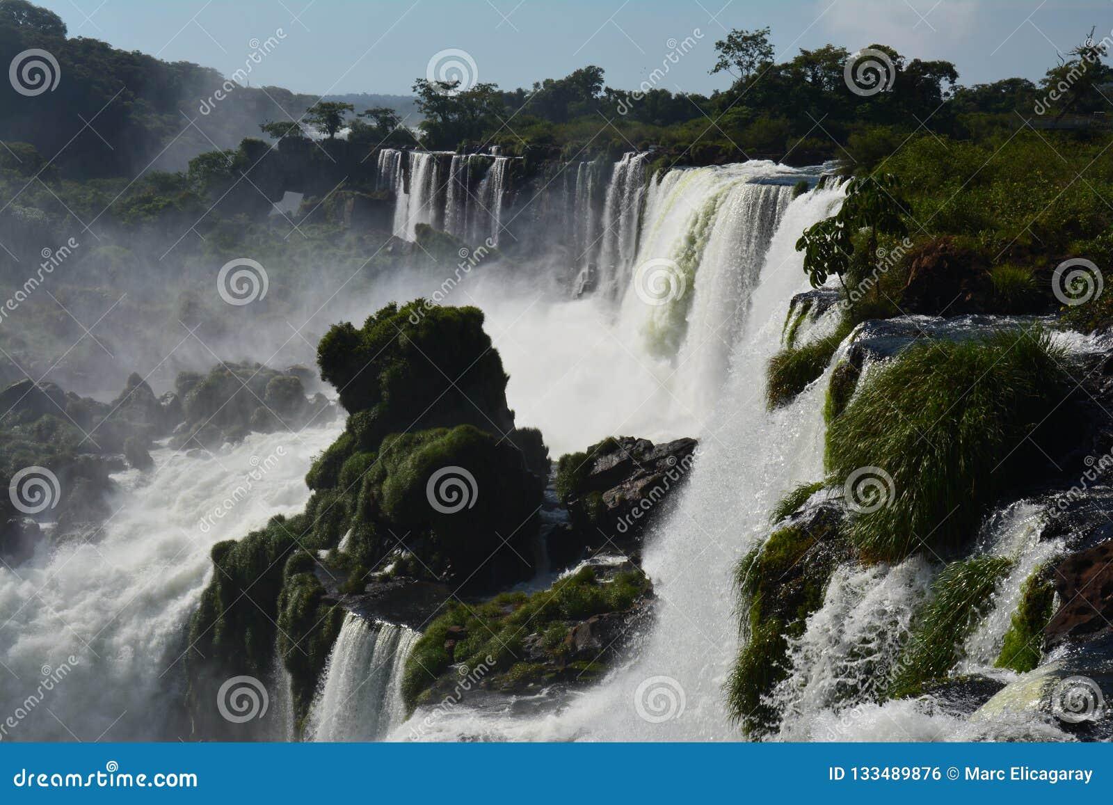 Mooie Iguazu-Dalingen van Argentinië Zuid-Amerika