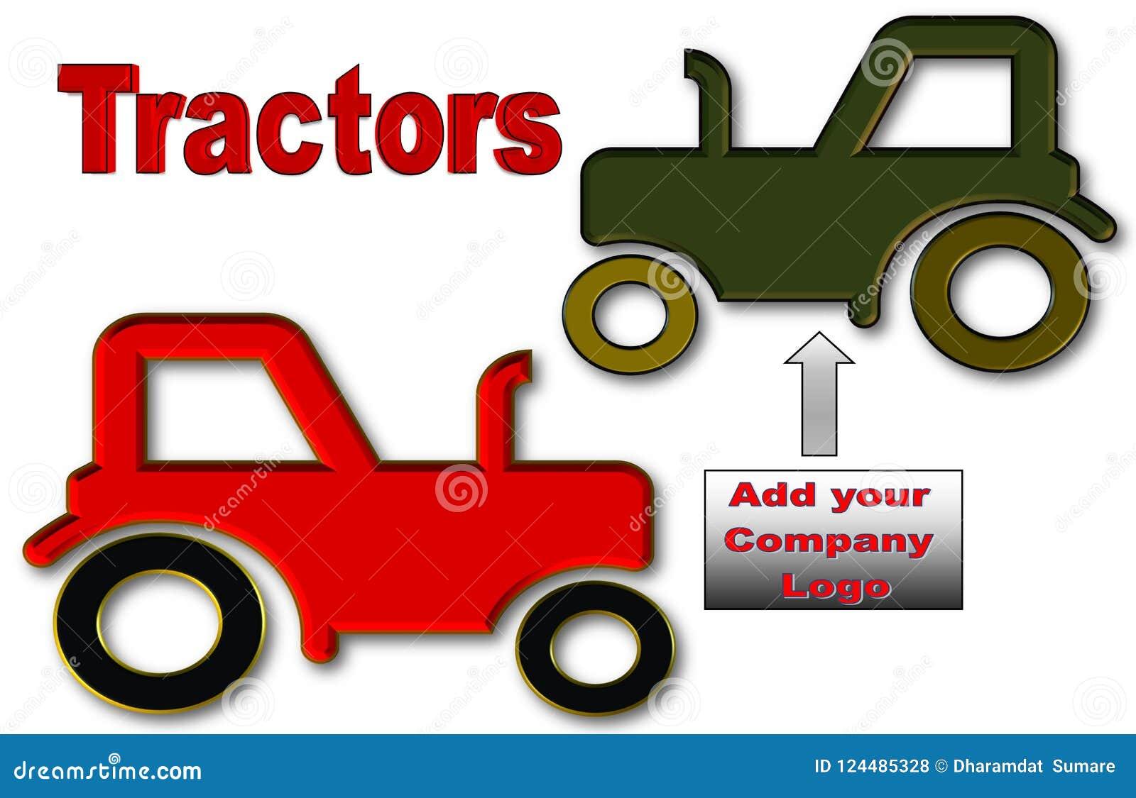 Mooie illustratie van Tractoren met ruimte voor embleem en reclame