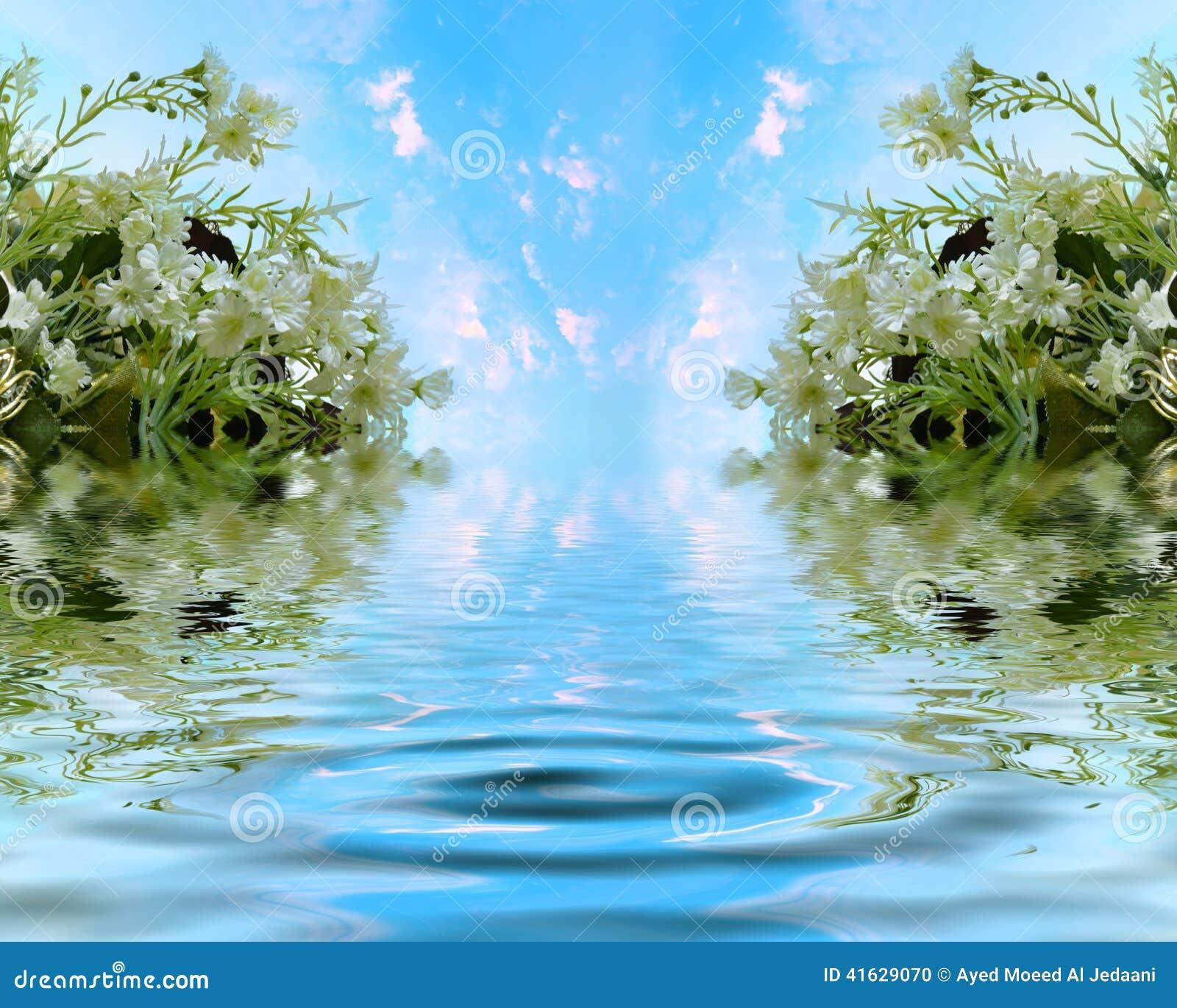 Mooie Jasmijn met Hemels meer