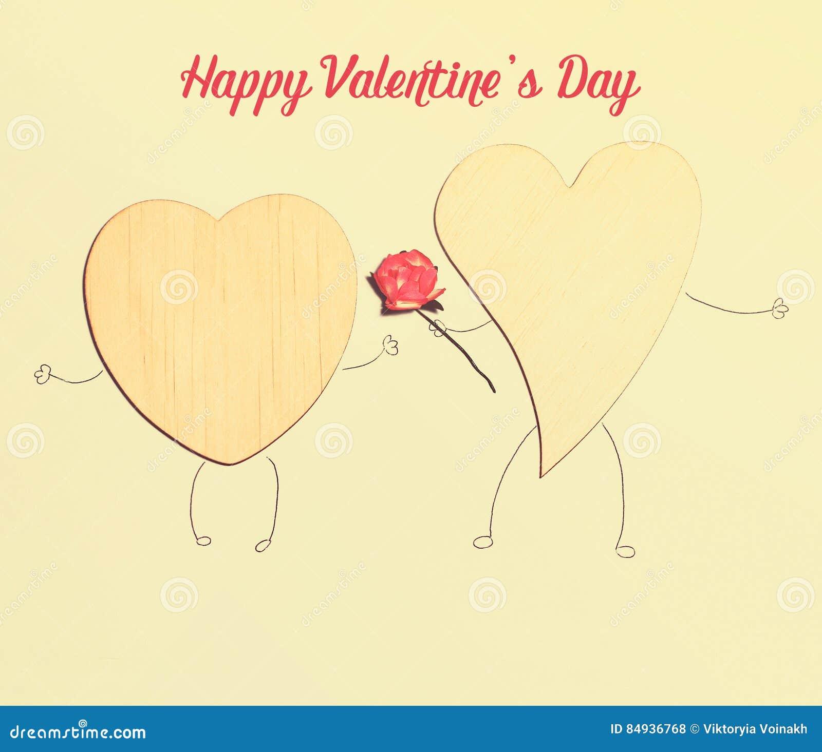 Mooie kaart voor de dag van Valentine ` s