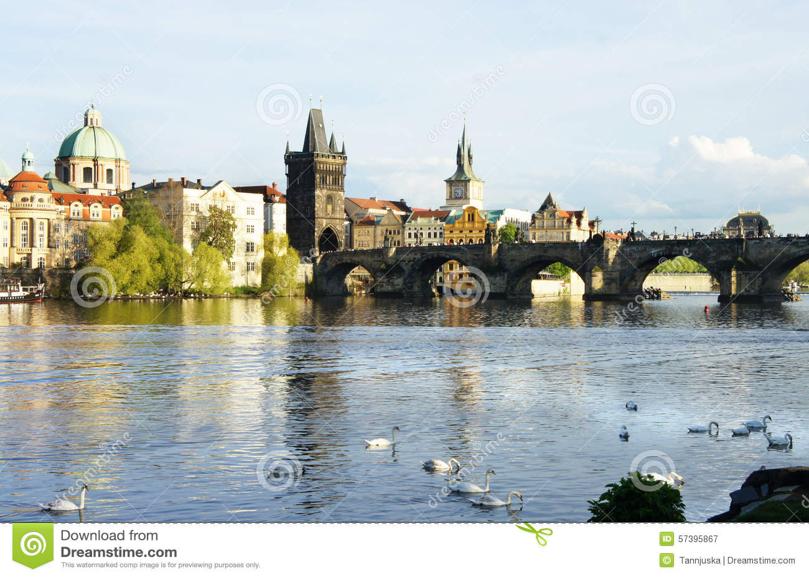 Mooie mening van Charles-brug, Praag