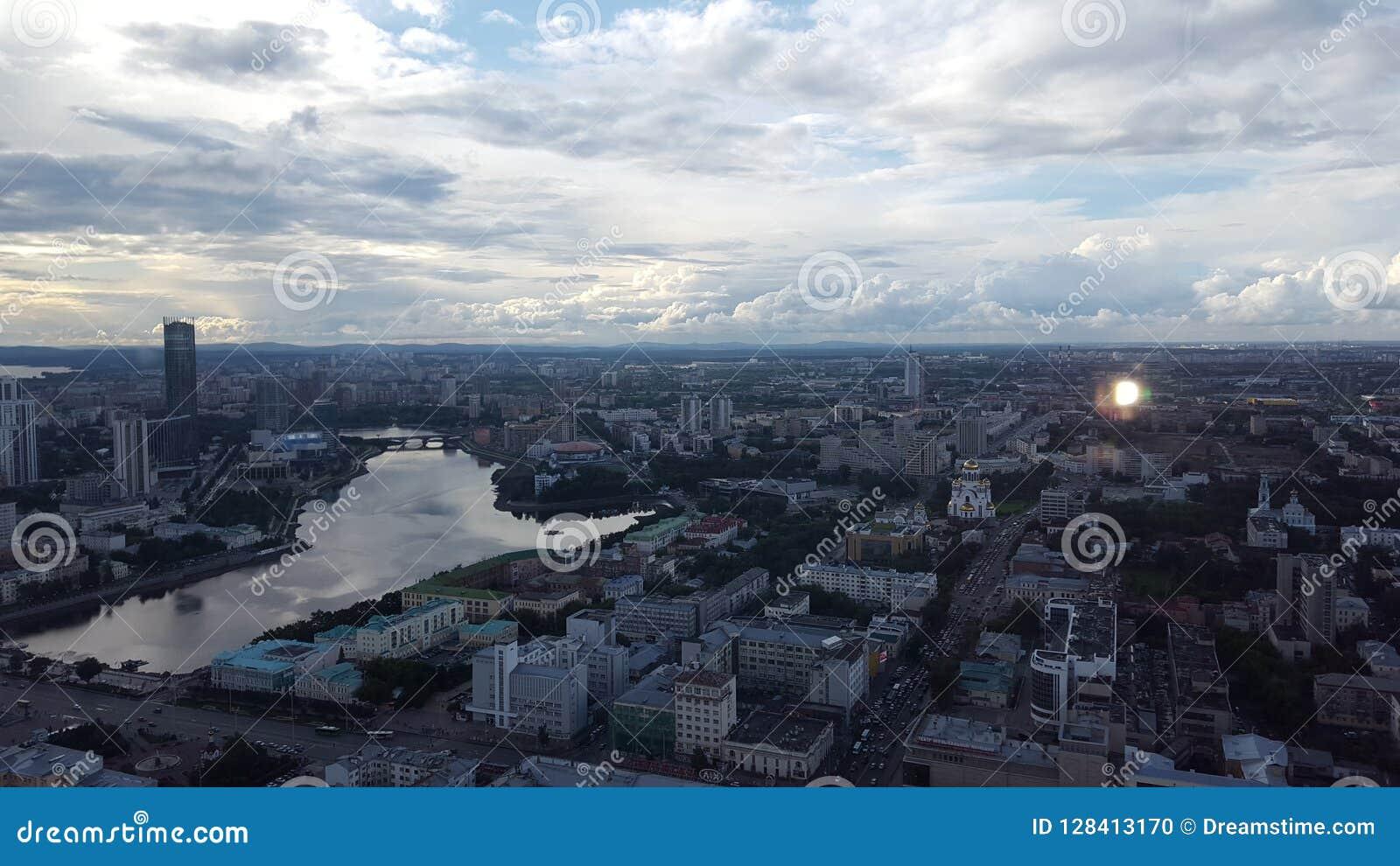 Mooie mening van de stad van Odessa