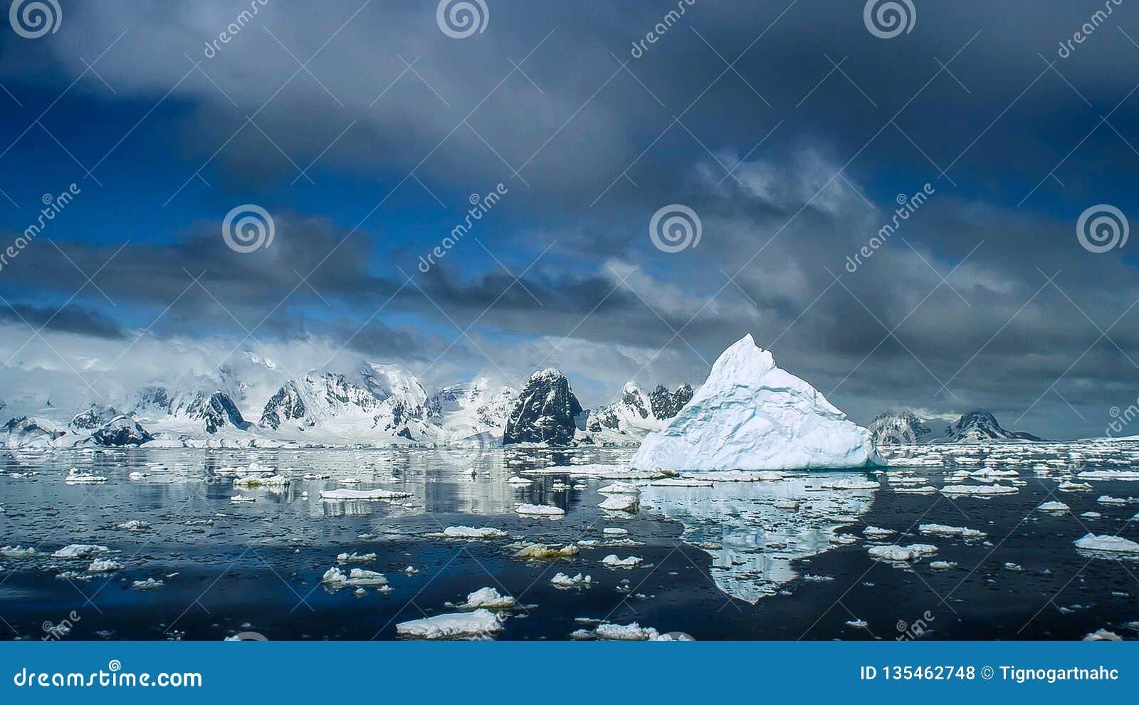 Mooie mening van ijsbergen in Antarctica
