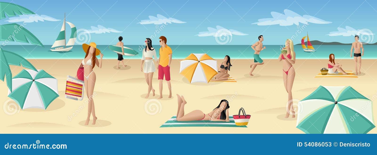 Mooie mensen op tropisch strand