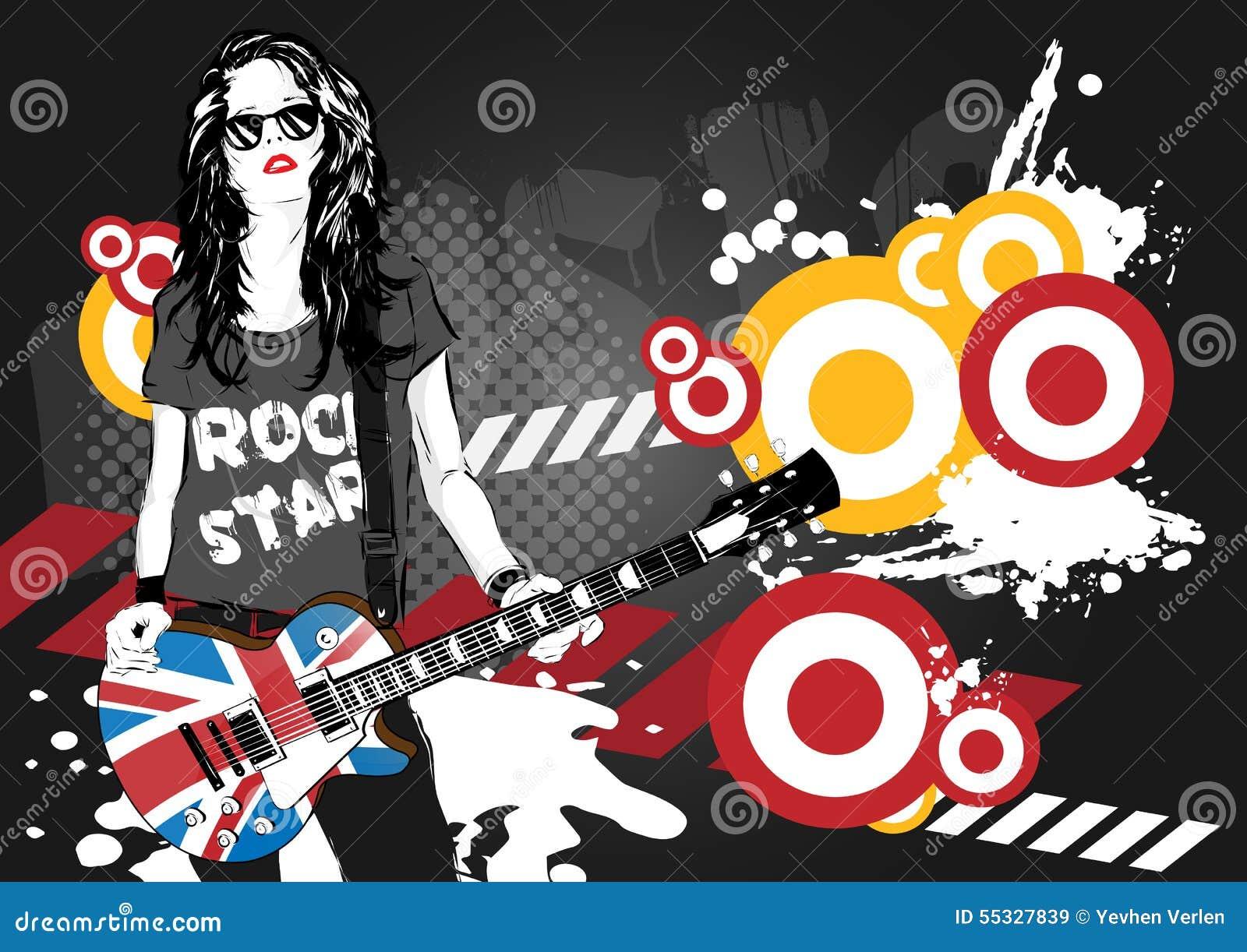 Mooie musicus het spelen gitaar
