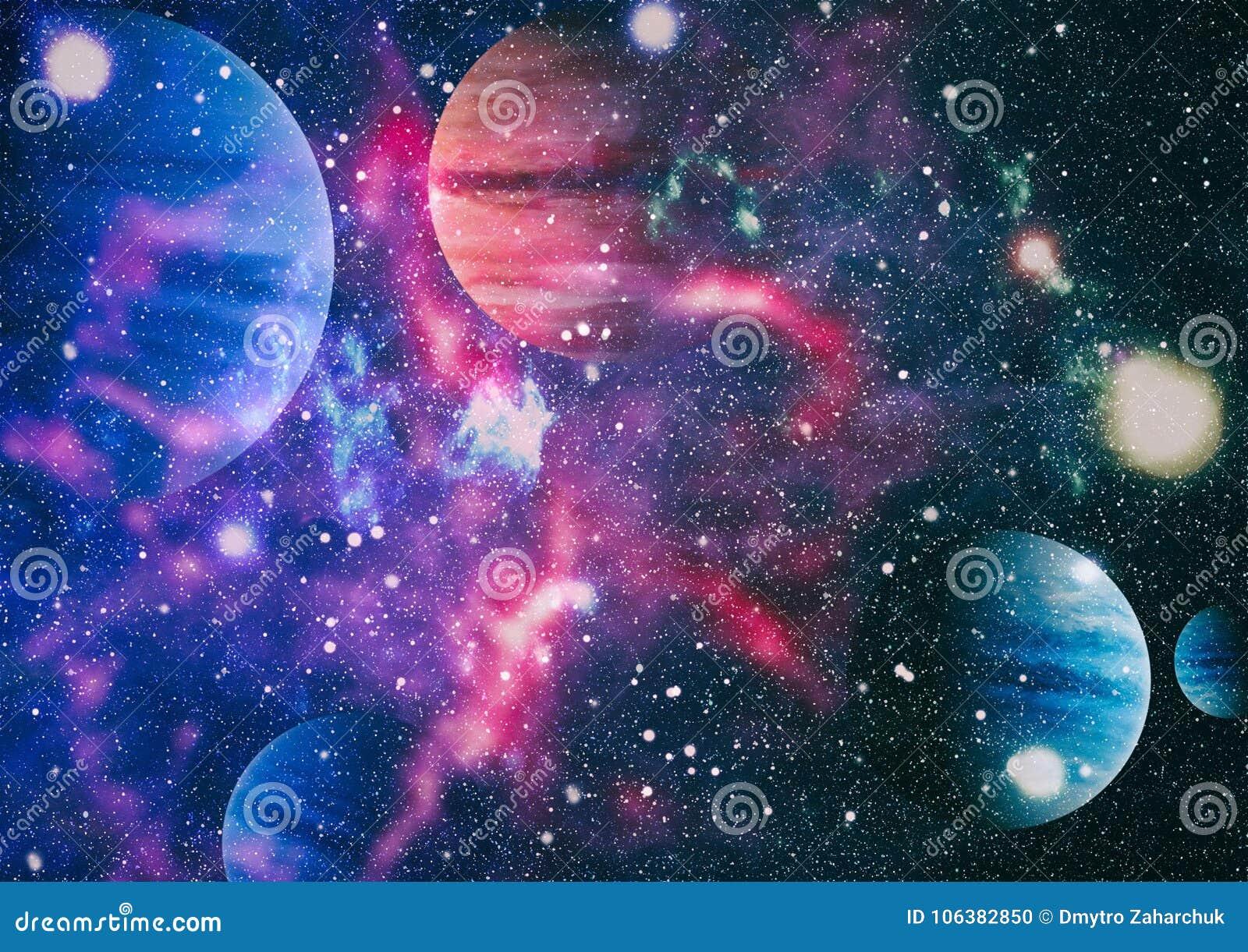 Mooie nevel, sterren en melkwegen Elementen van dit die beeld door NASA wordt geleverd