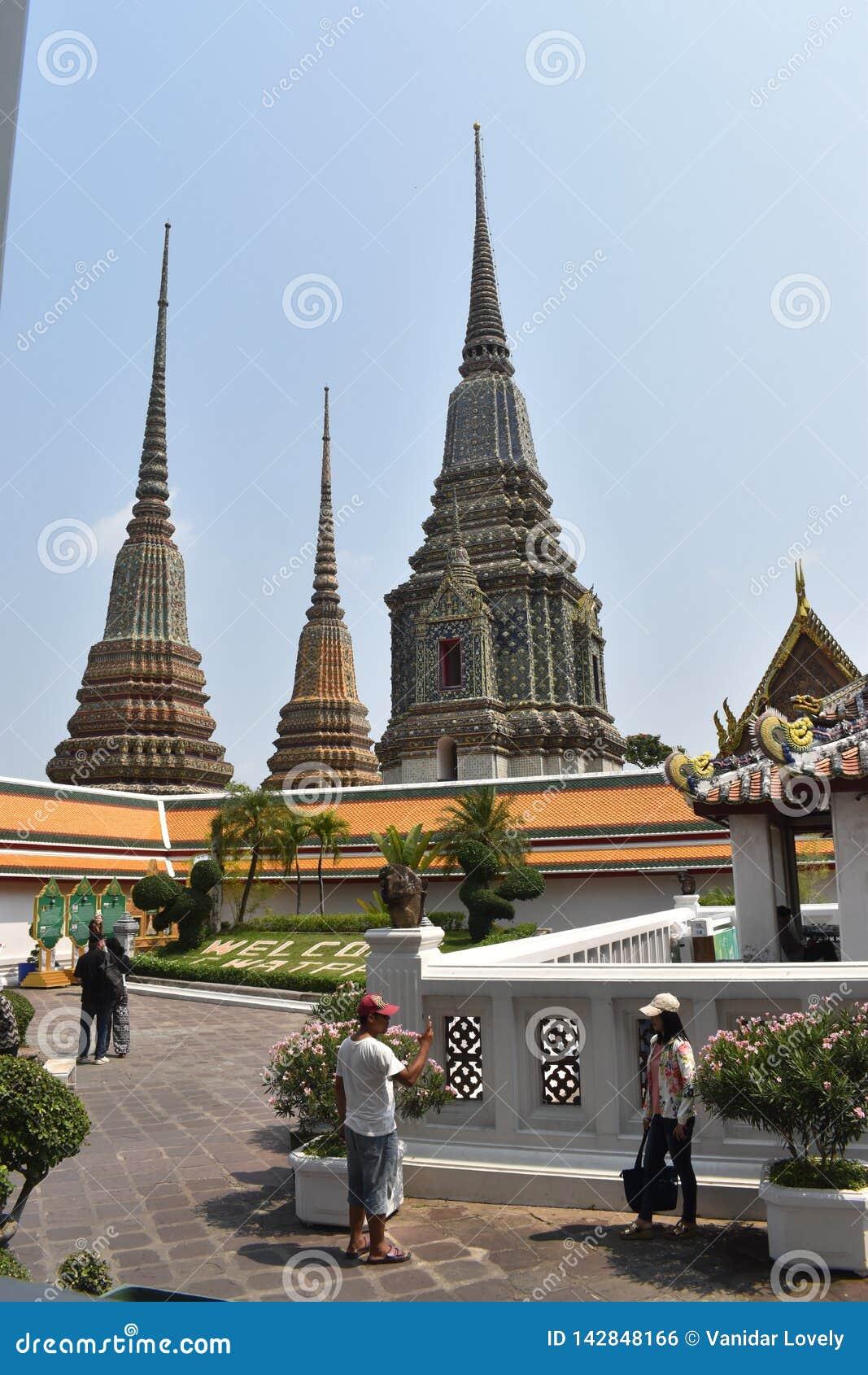 Mooie pagoden Wat Pho, één van beroemdst in Thailand