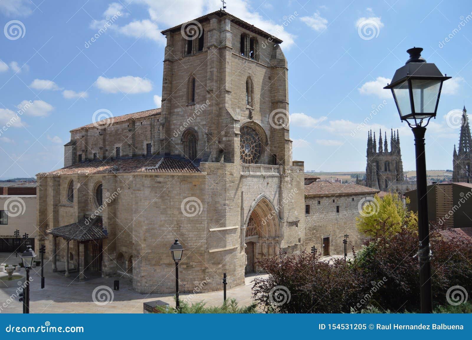 Mooie Parochie van San Esteban van Gotische Stijl die in de 13de Eeuw in Burgos wordt gedateerd 28 augustus, 2013 Burgos, Castill