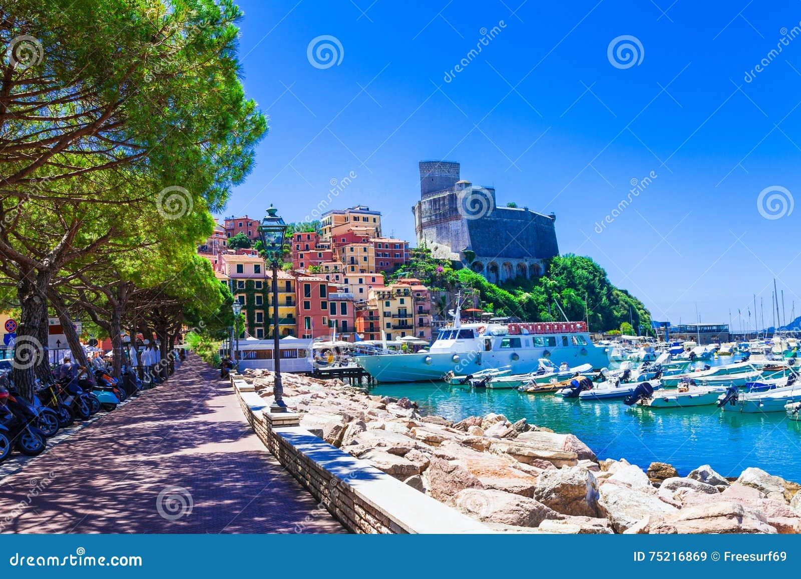 Mooie plaatsen van Italië - Lerici in Ligurië