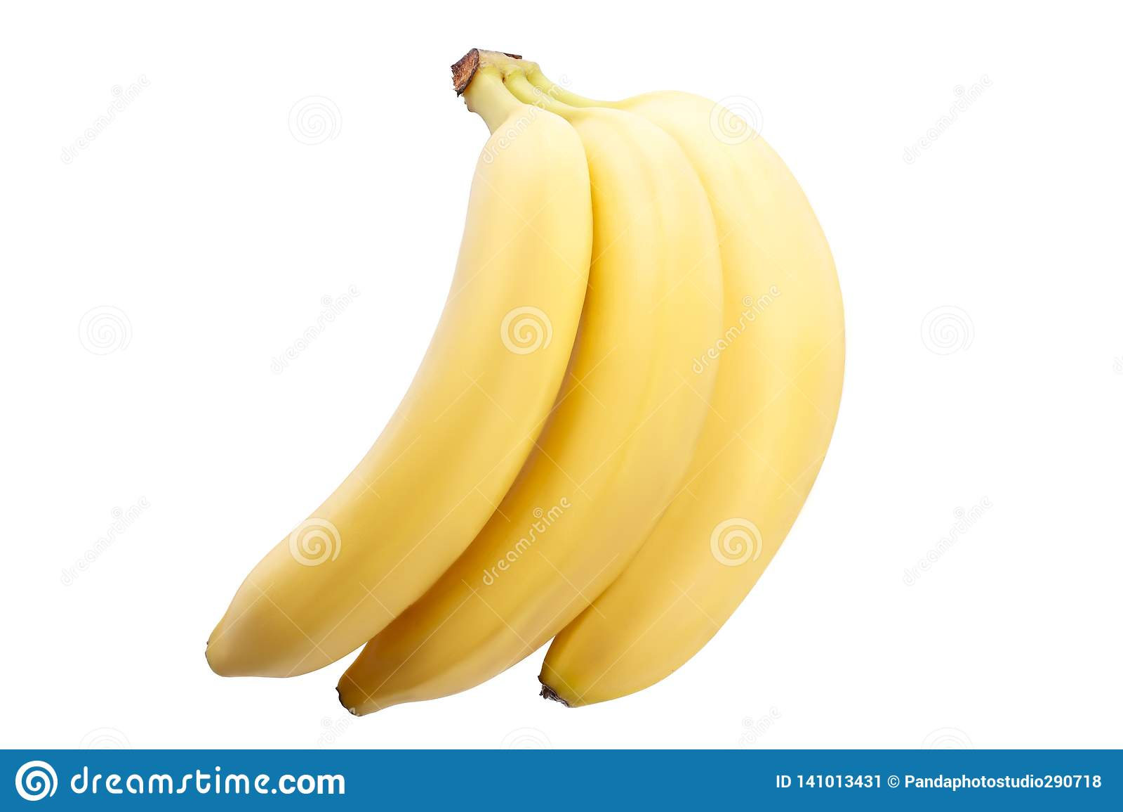 Mooie rijpe bananen op een witte achtergrond isolatie