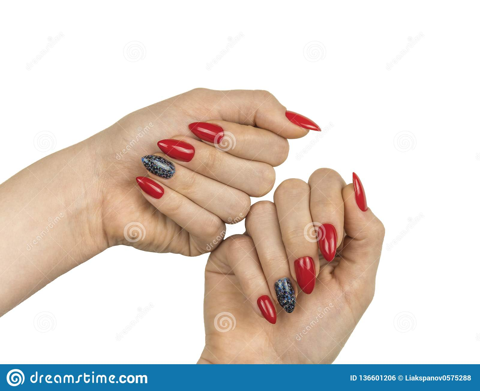Mooie rode manicure