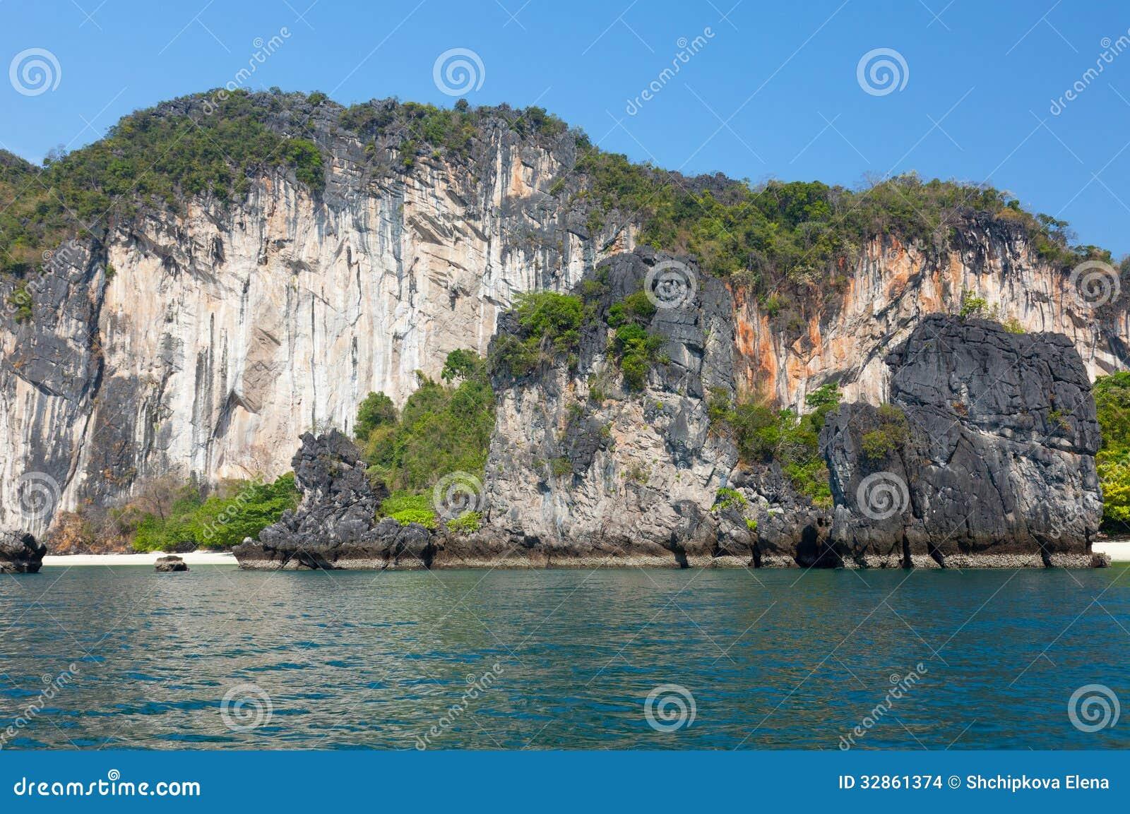 Mooie rotsen van het eiland hong stock afbeeldingen beeld 32861374 - Centrale eiland prijzen ...