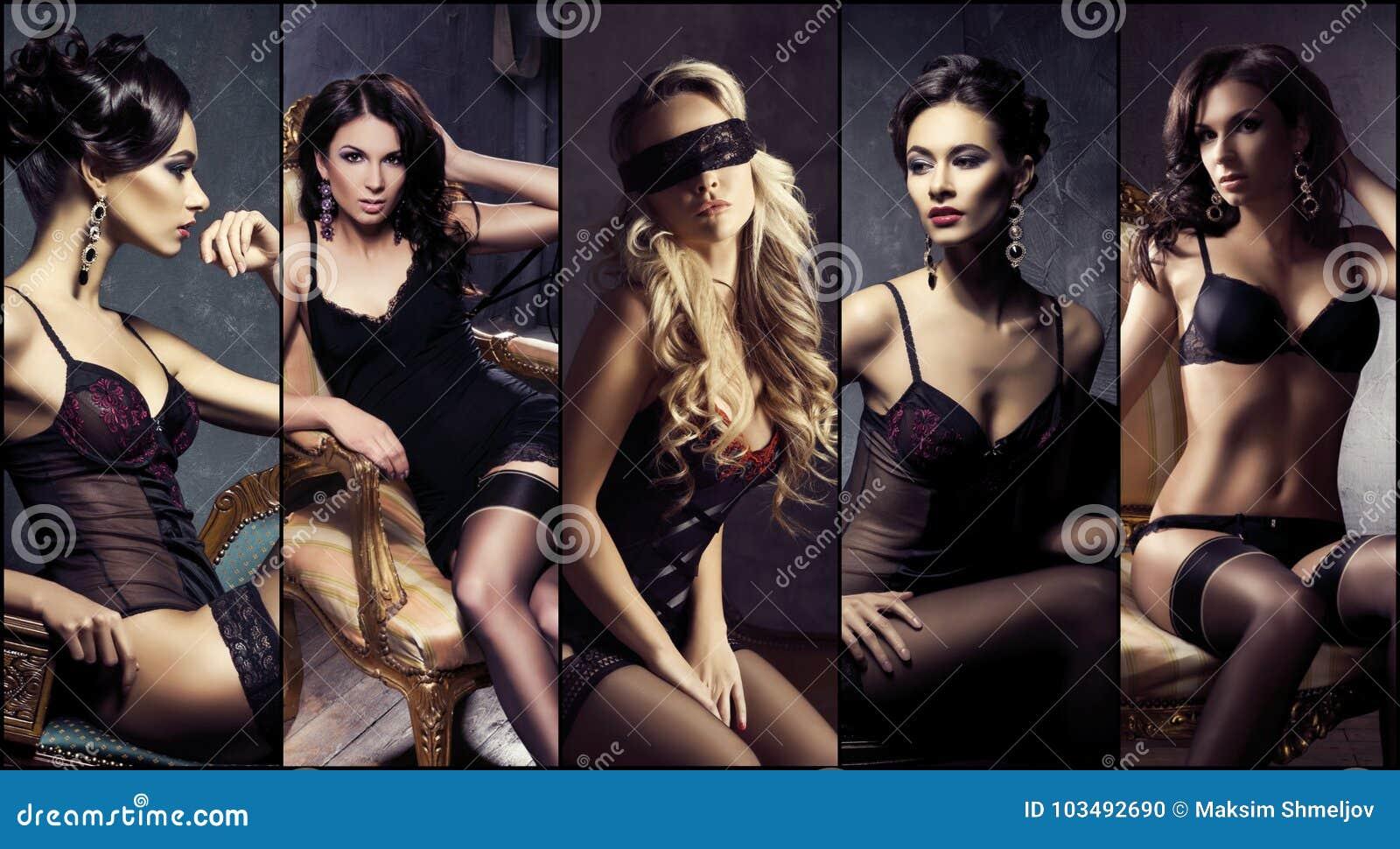 Mooie, sexy en jonge meisjes in lingerie
