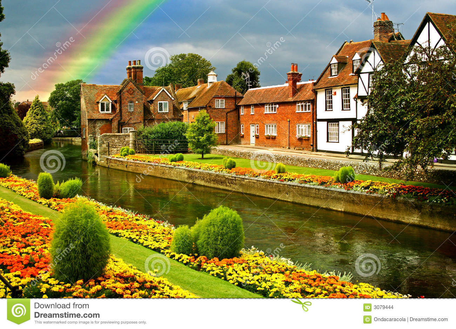 Mooie stadstuinen stock afbeeldingen afbeelding 3079444 - Casas con jardines bonitos ...