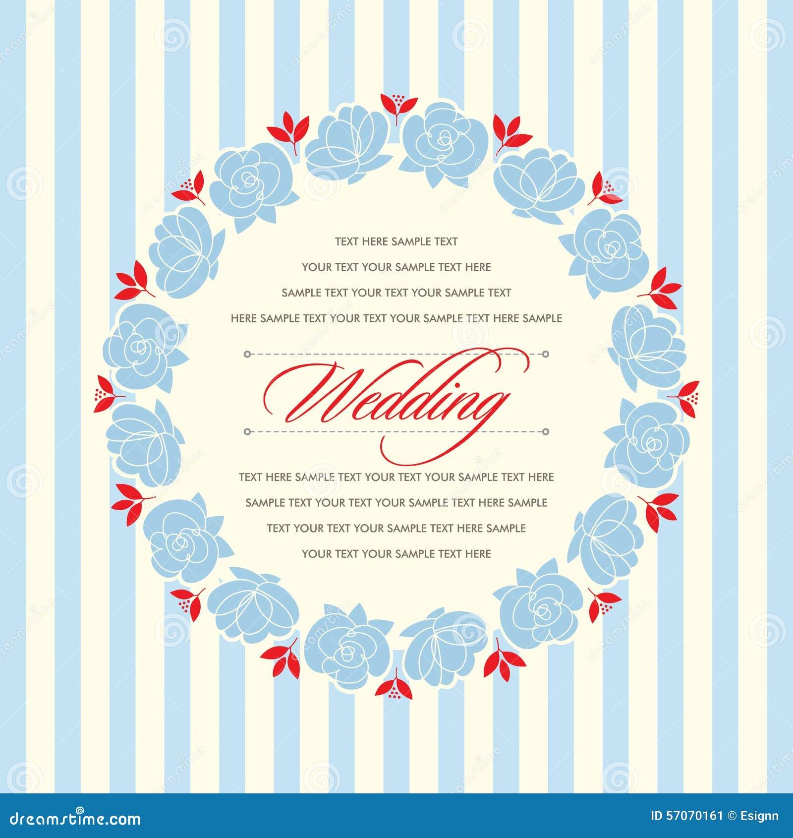 Mooie uitstekende bloemenuitnodigingskaart Vector illustratie