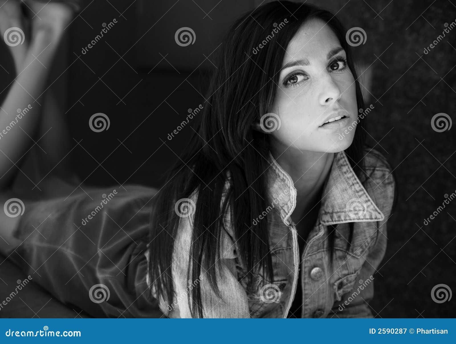 Mooie Vrouw met grote ogen