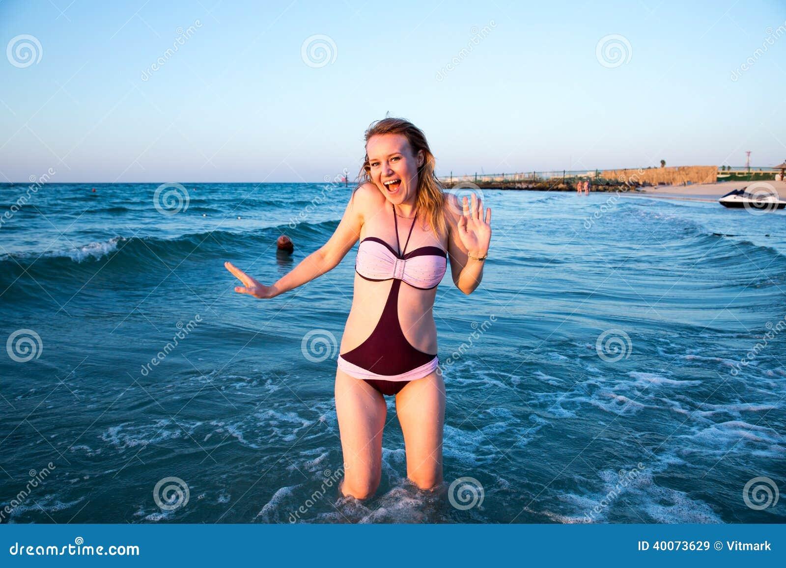 Topless tourist wife sexy eating ice cream in sunny beach bulgaria - 1 3