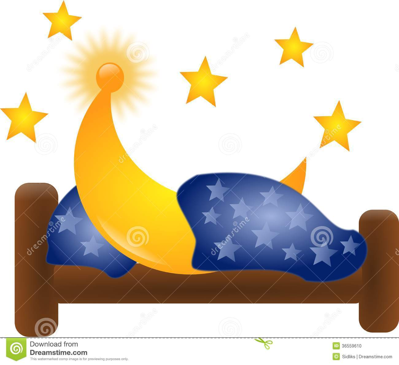 Moon in bed stock photo. Illustration of star, sleep - 36559610 for Pillow And Blanket Clipart  76uhy