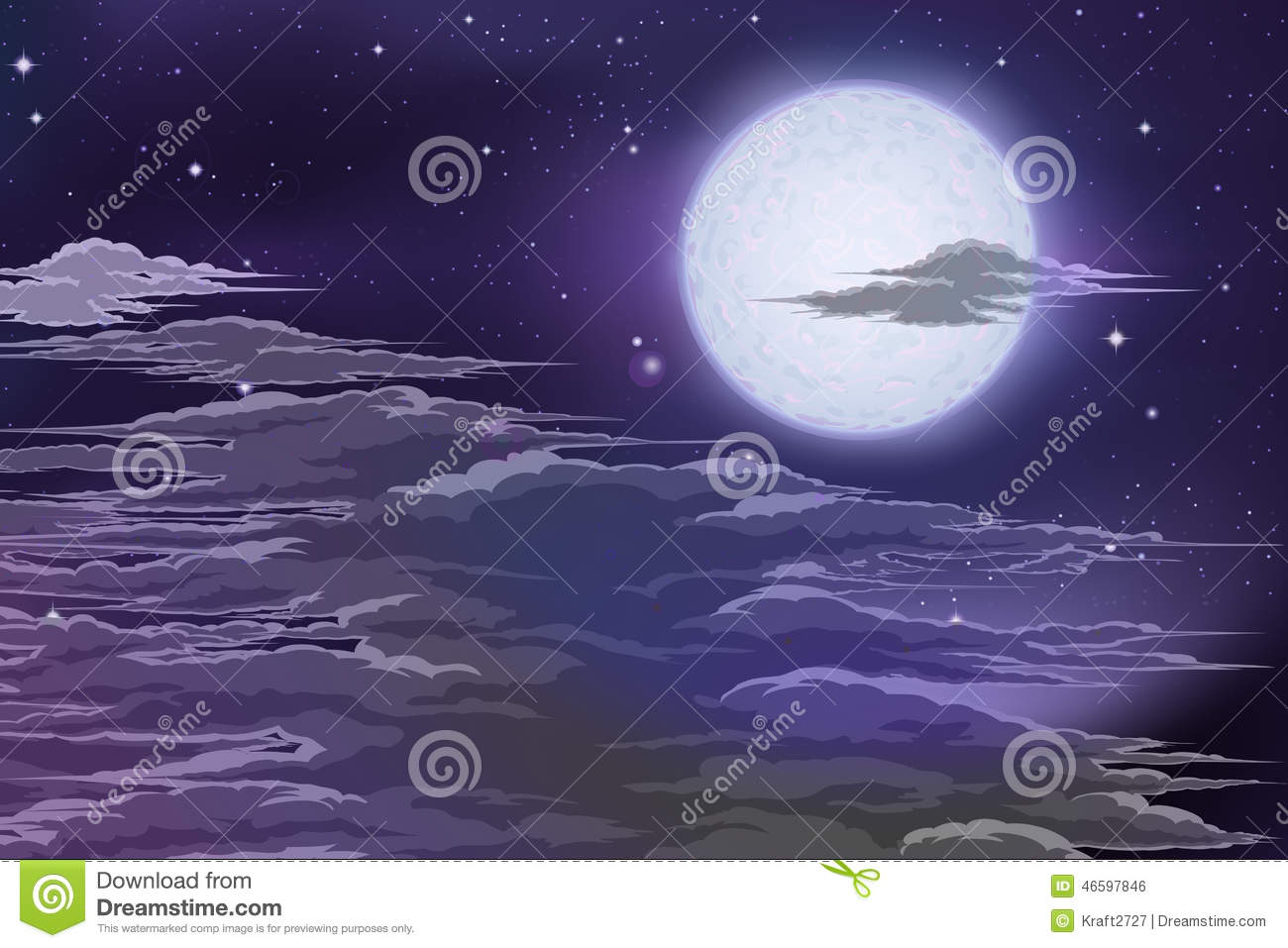 Moon Behind Clouds Stock Photo Image Of Bright Illuminated