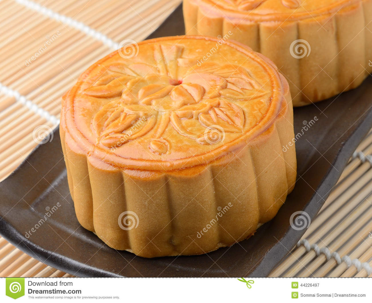 Moon Cake Stock Photo - Image: 44226497