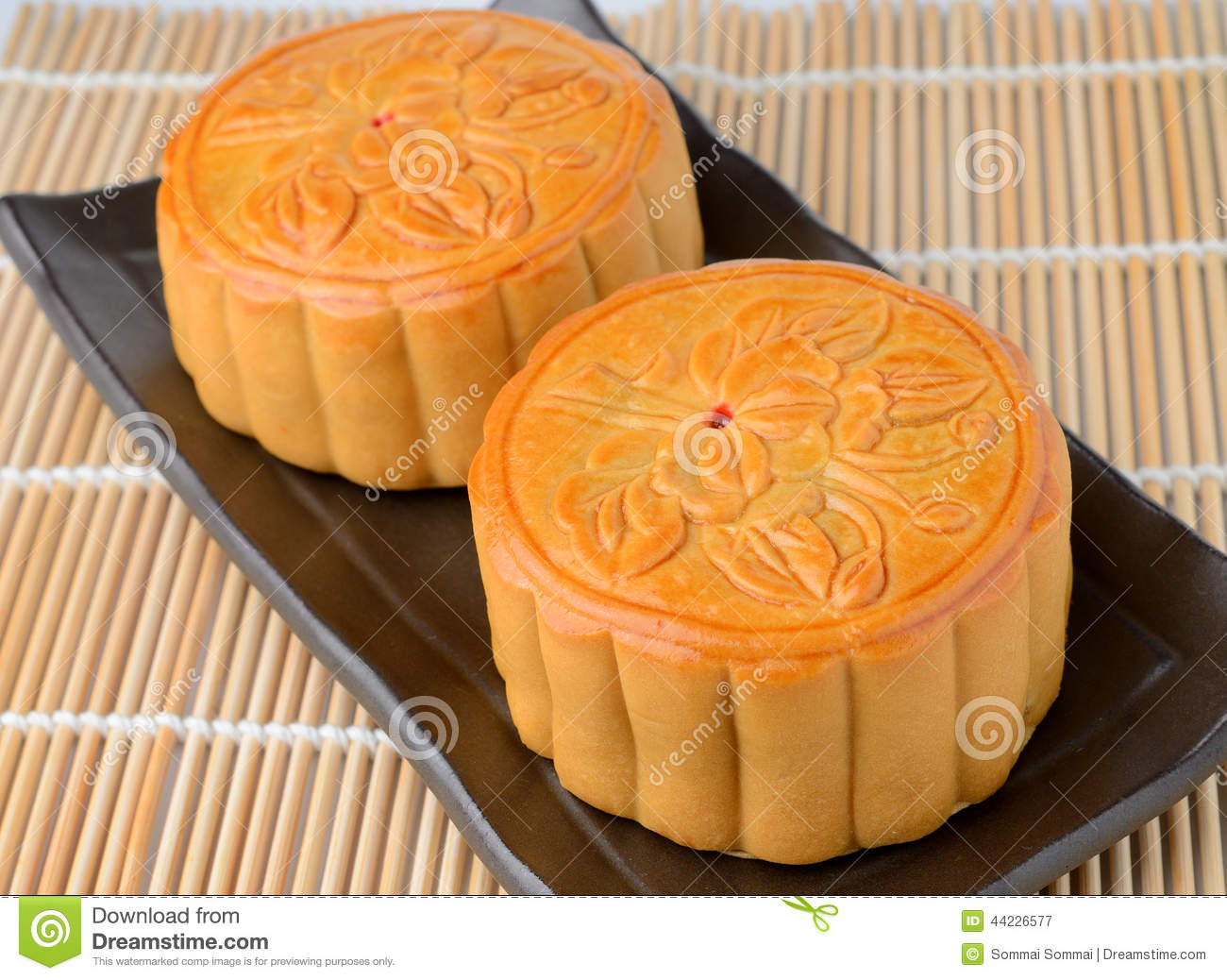Moon Cake Stock Photo - Image: 44226577