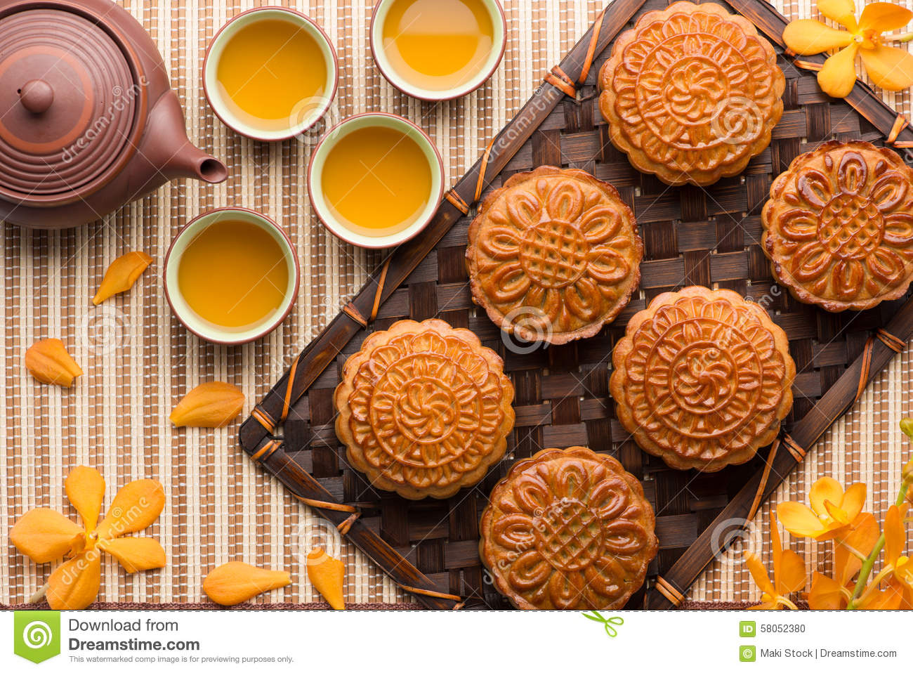 Moon Cake Traditional Cake Of Vietnamese - Chinese Mid
