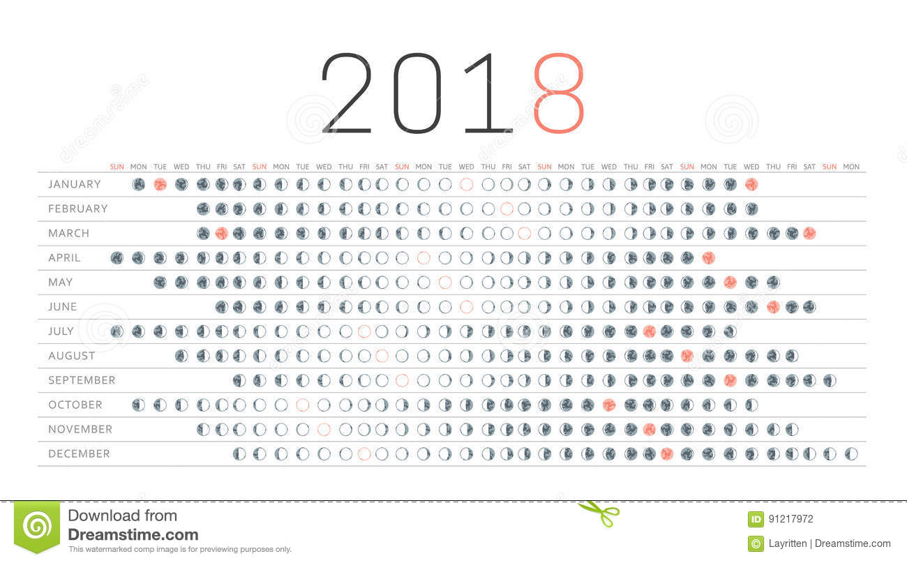 red moon phase calendar 2018 - photo #27