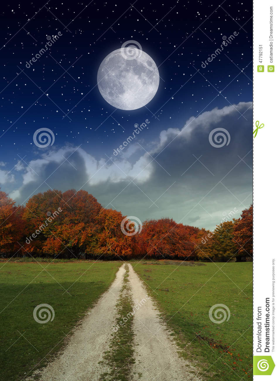 Moon in the country