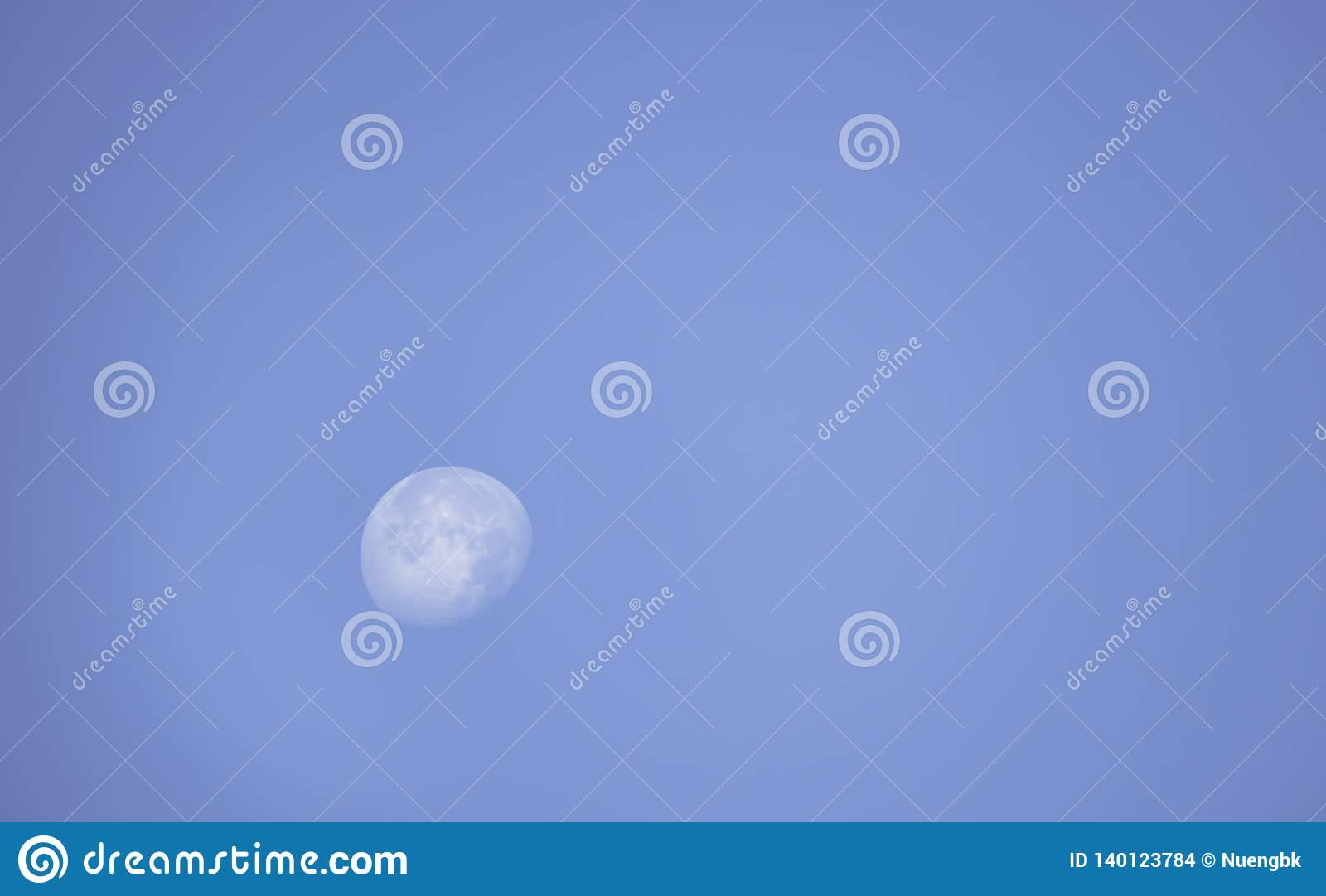 Moon in daylight On the bright sky