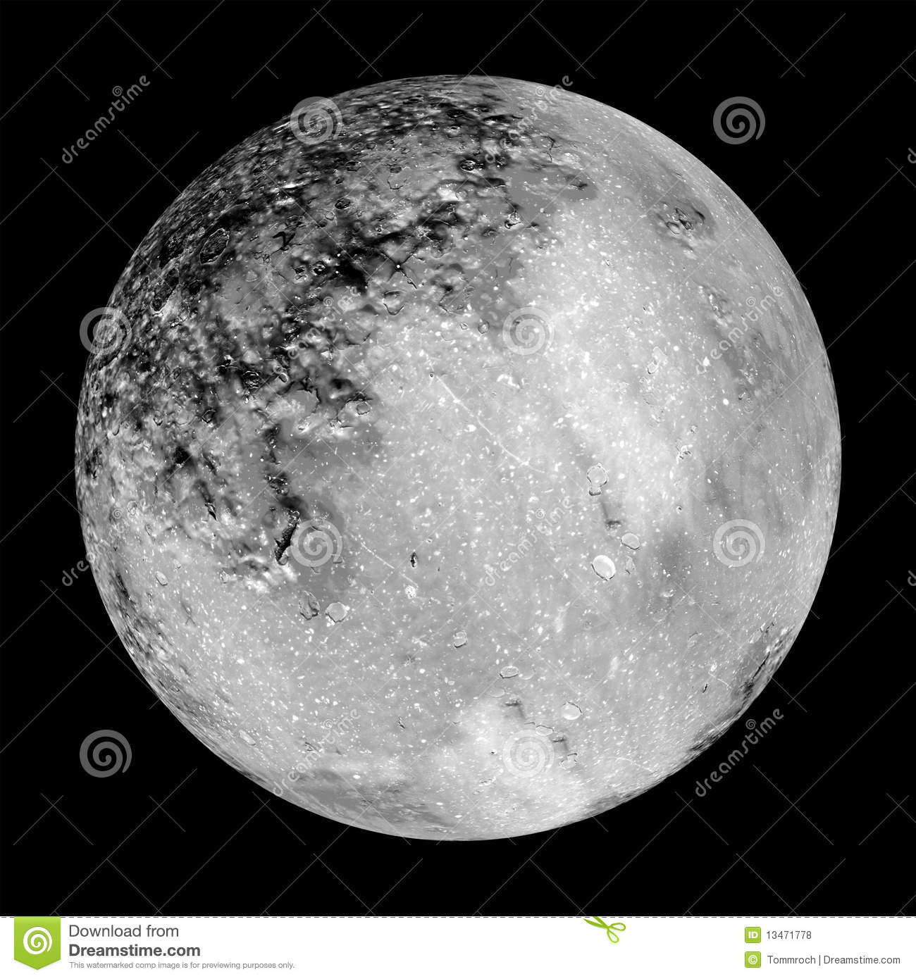 Moon design as maybe seen through telescope stock for Moon architecture