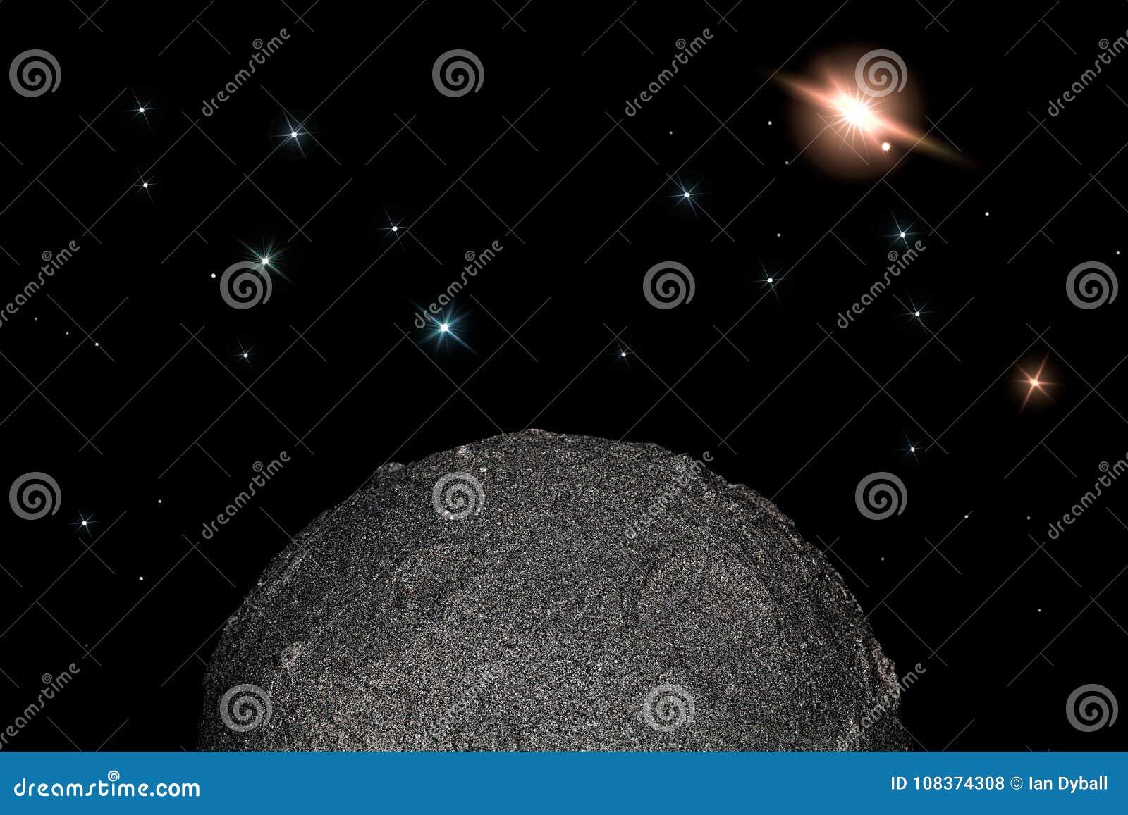 Moon e protagoniza no espaço Simples criança-como a ciência planetária e