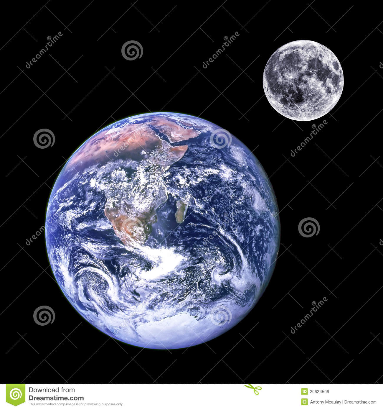 earth and moon together - photo #1