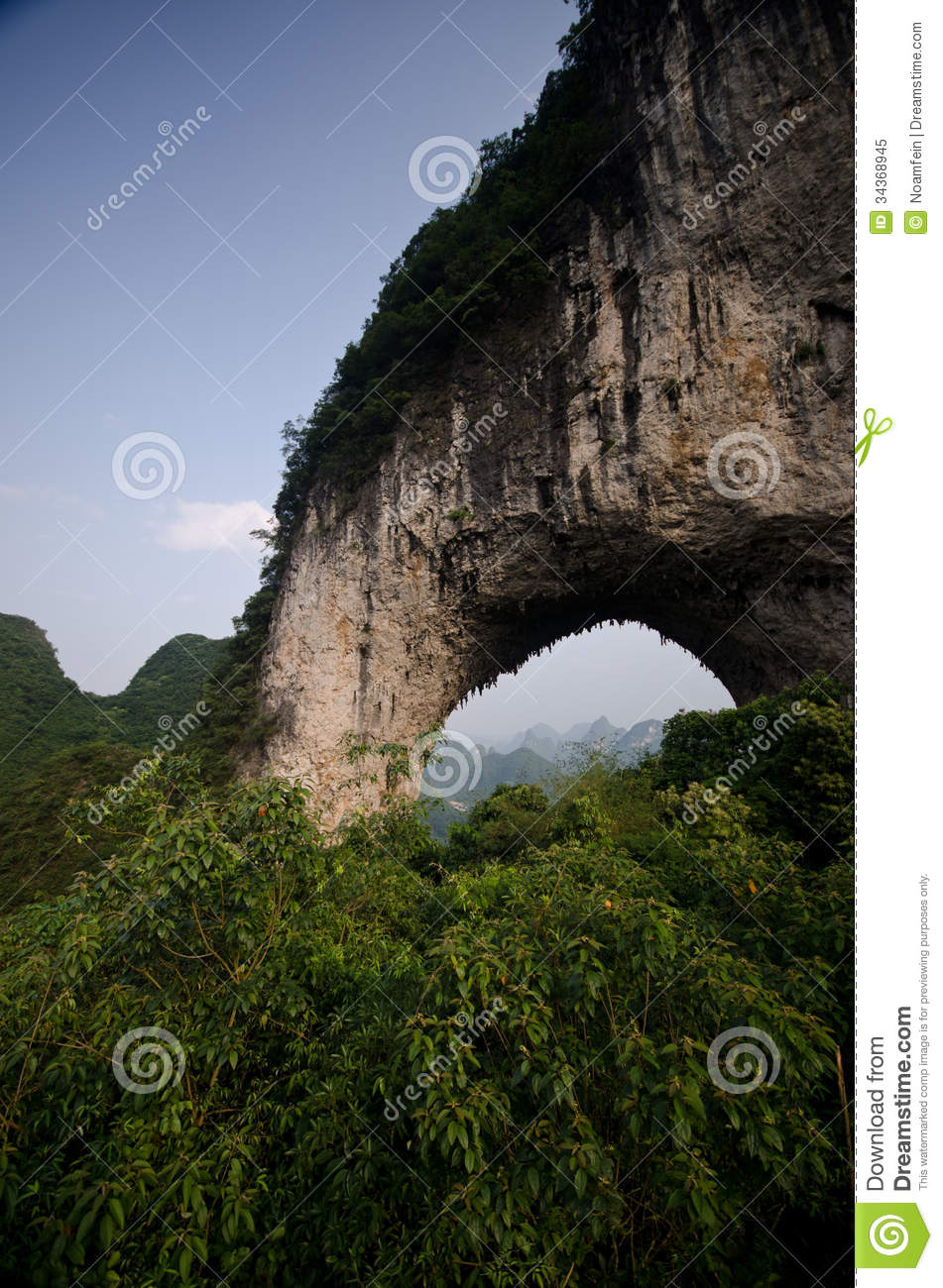 Moon Hill In Yangshuo Royalty Free Stock Photo - Image ...