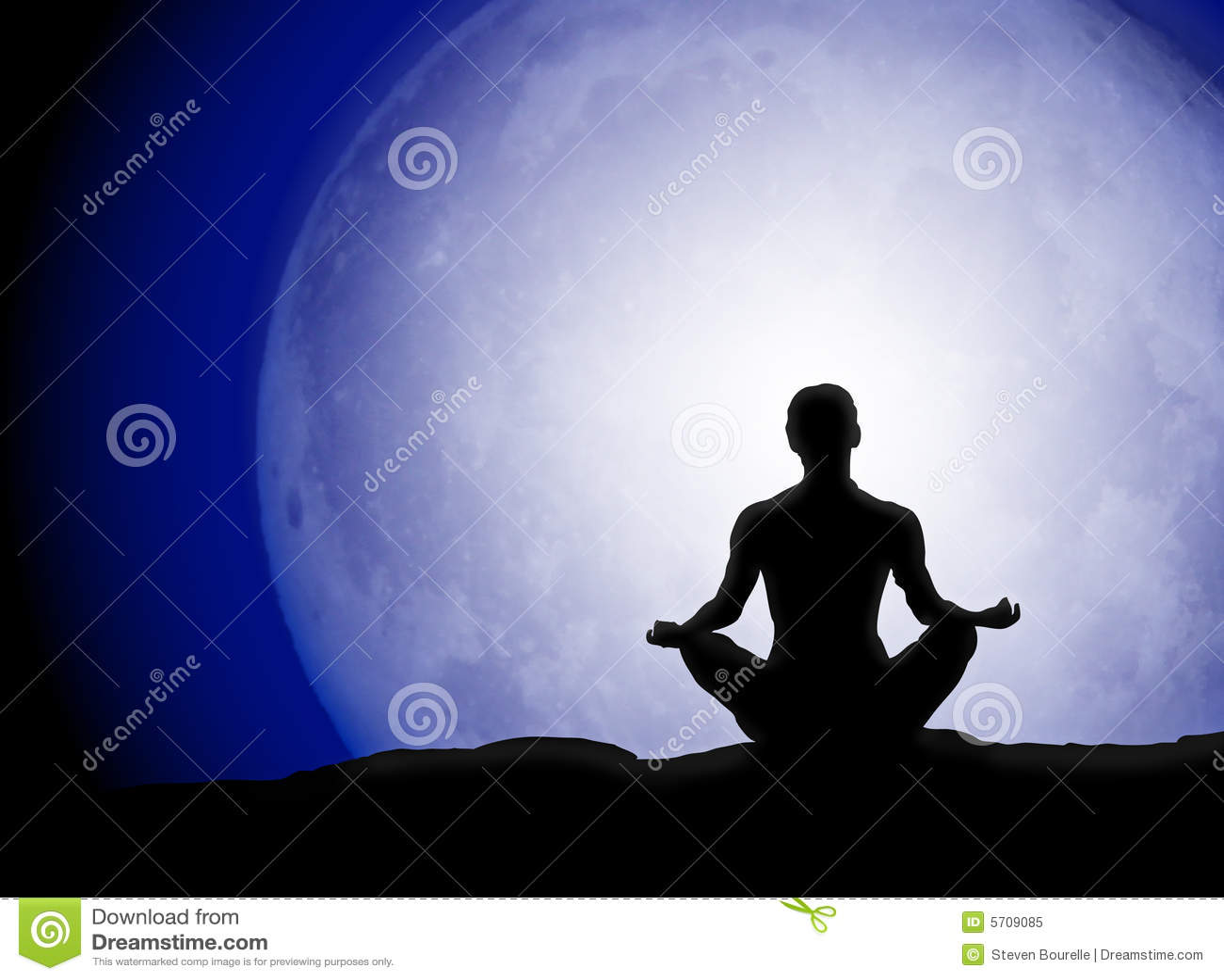 Moon Meditation Silhouette