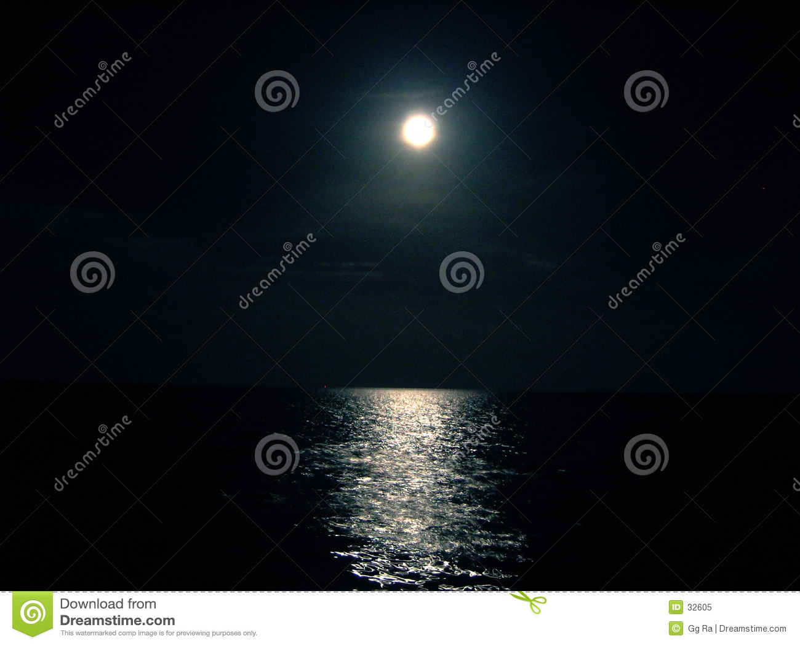Moon and Ocean night