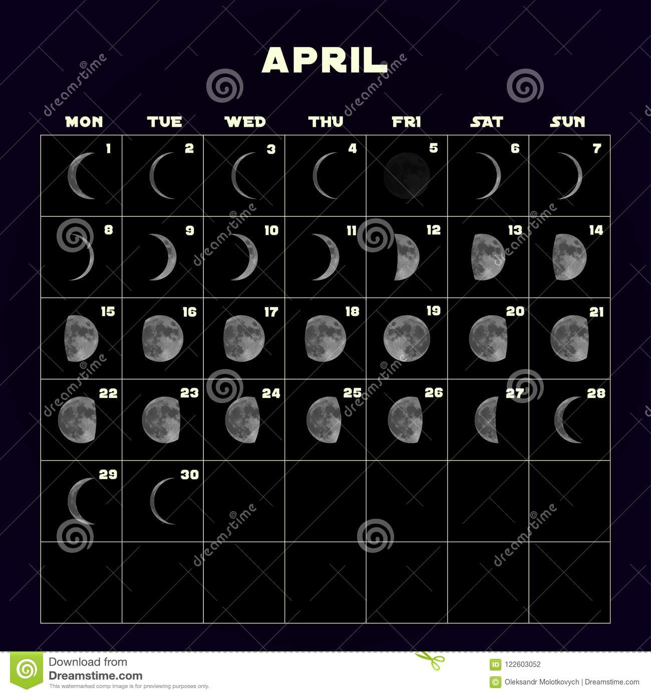 Full Moon April 2019